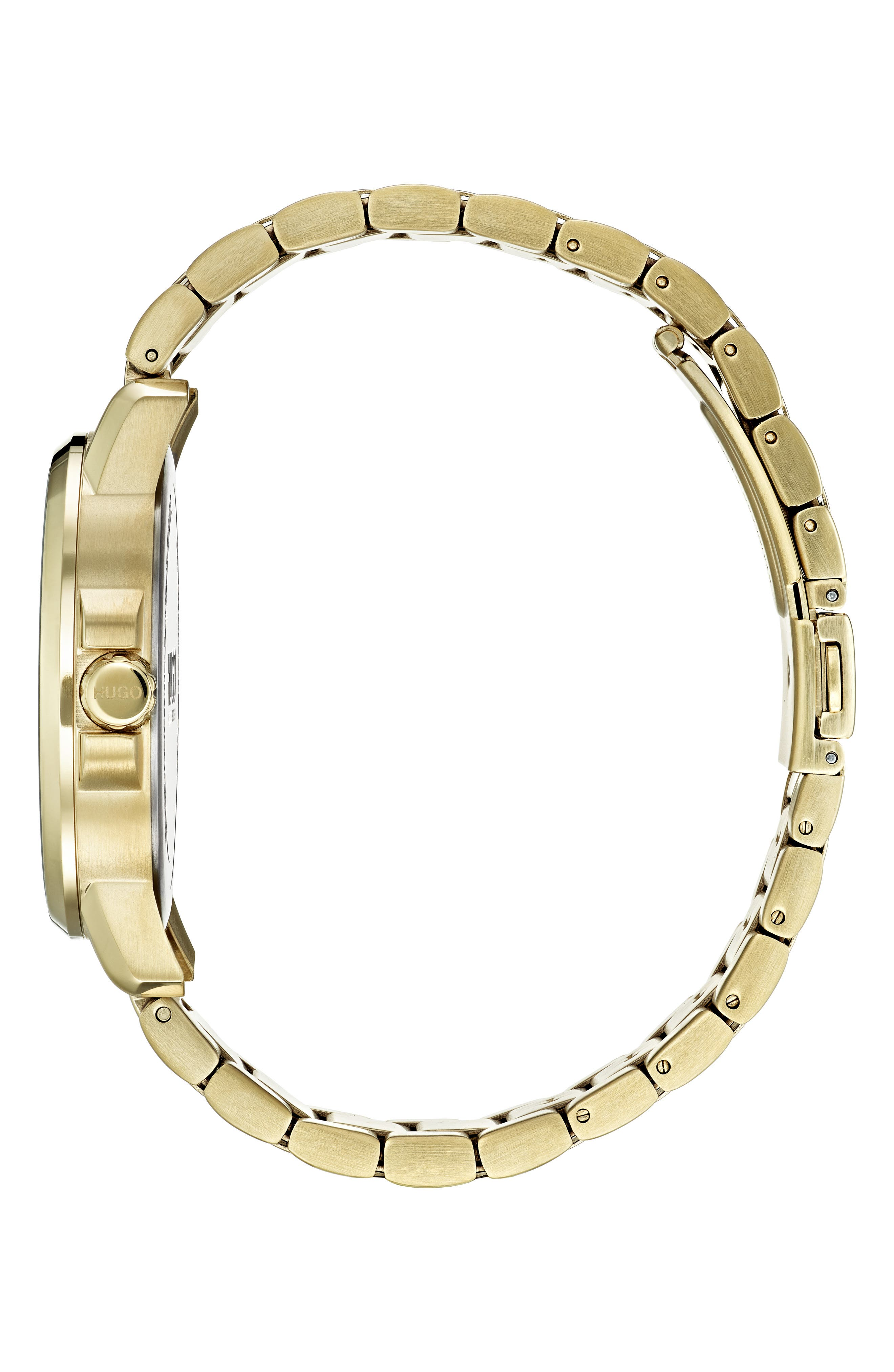 Bracelet Watch, 42mm,                             Alternate thumbnail 3, color,                             GOLD