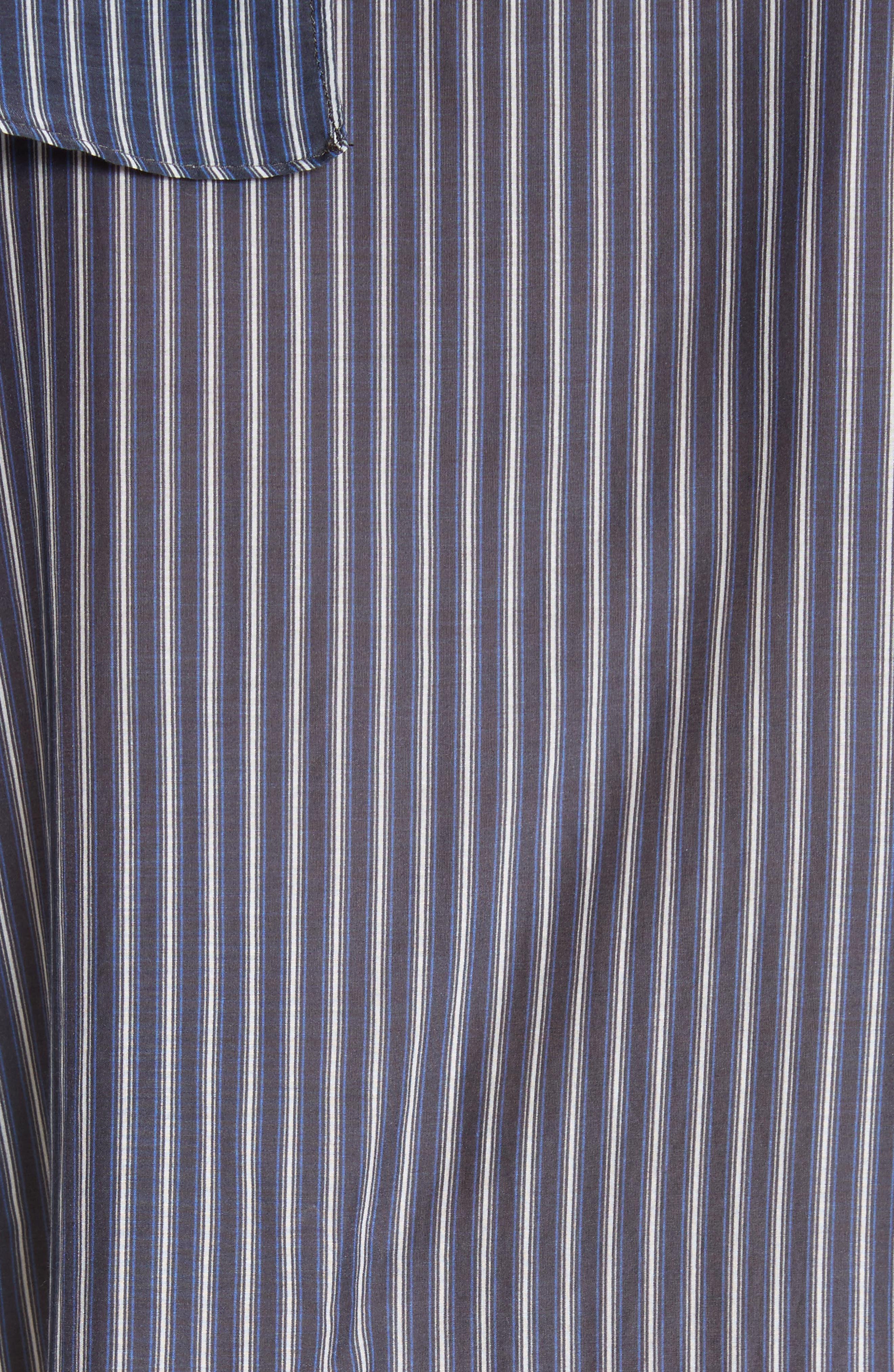 Vertical Stripe Ruffle Shirt,                             Alternate thumbnail 5, color,                             400