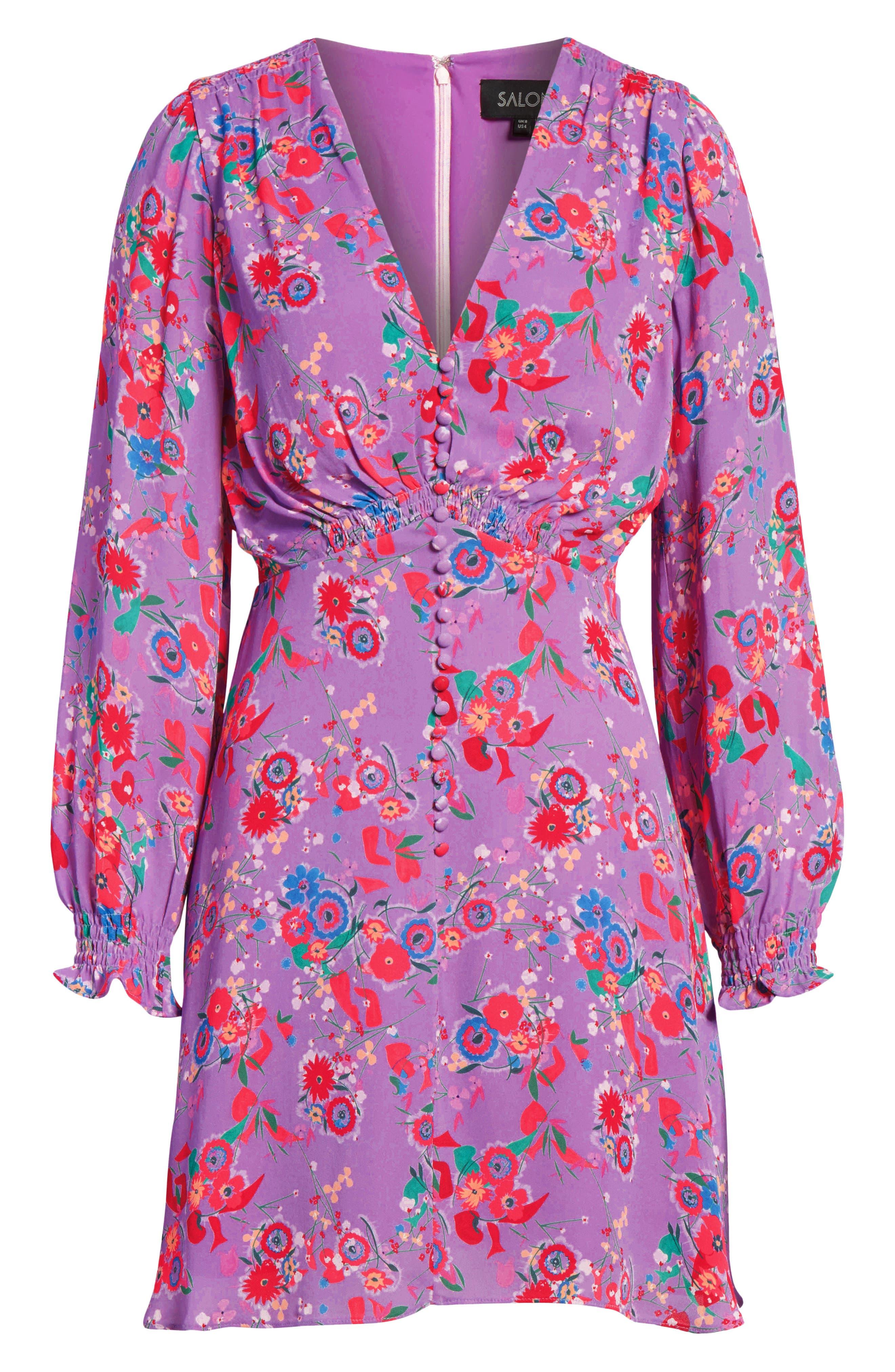 Eve Floral Print Dress,                             Alternate thumbnail 7, color,                             531
