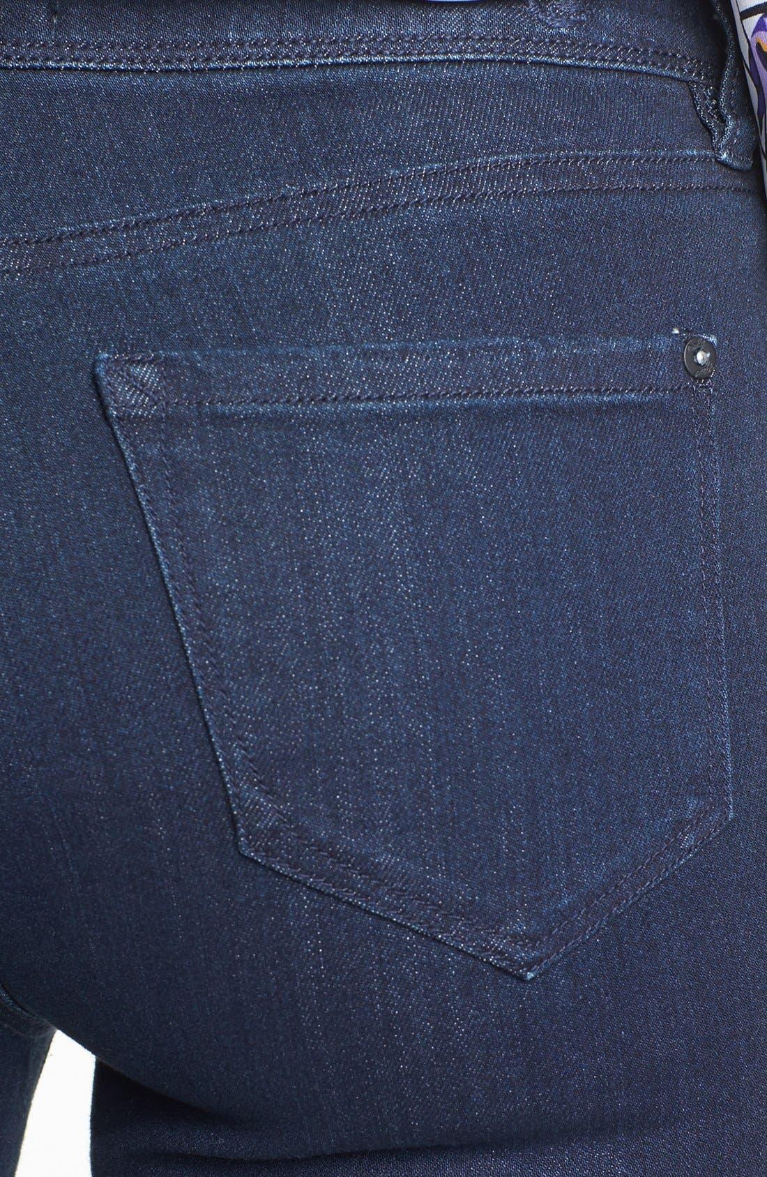 KENSIE,                             'Ankle Biter' High Rise Skinny Jeans,                             Alternate thumbnail 3, color,                             427