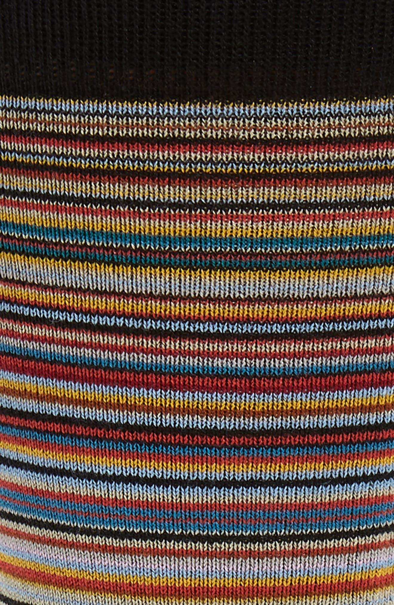PAUL SMITH,                             Stripe Crew Socks,                             Alternate thumbnail 2, color,                             001