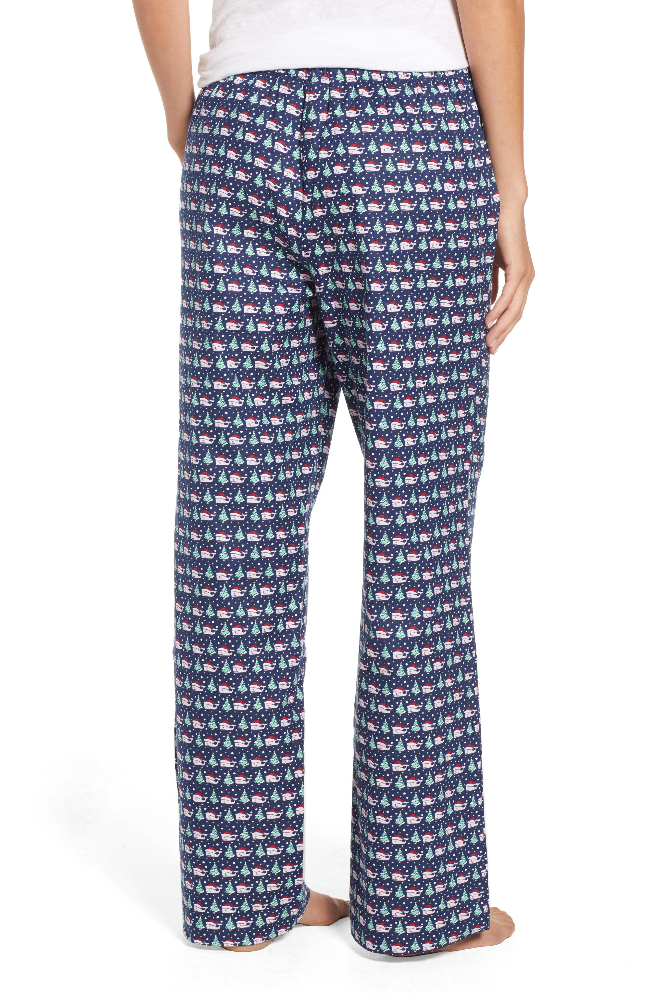 Santa Whale Lounge Pants,                             Alternate thumbnail 2, color,                             DEEP BAY
