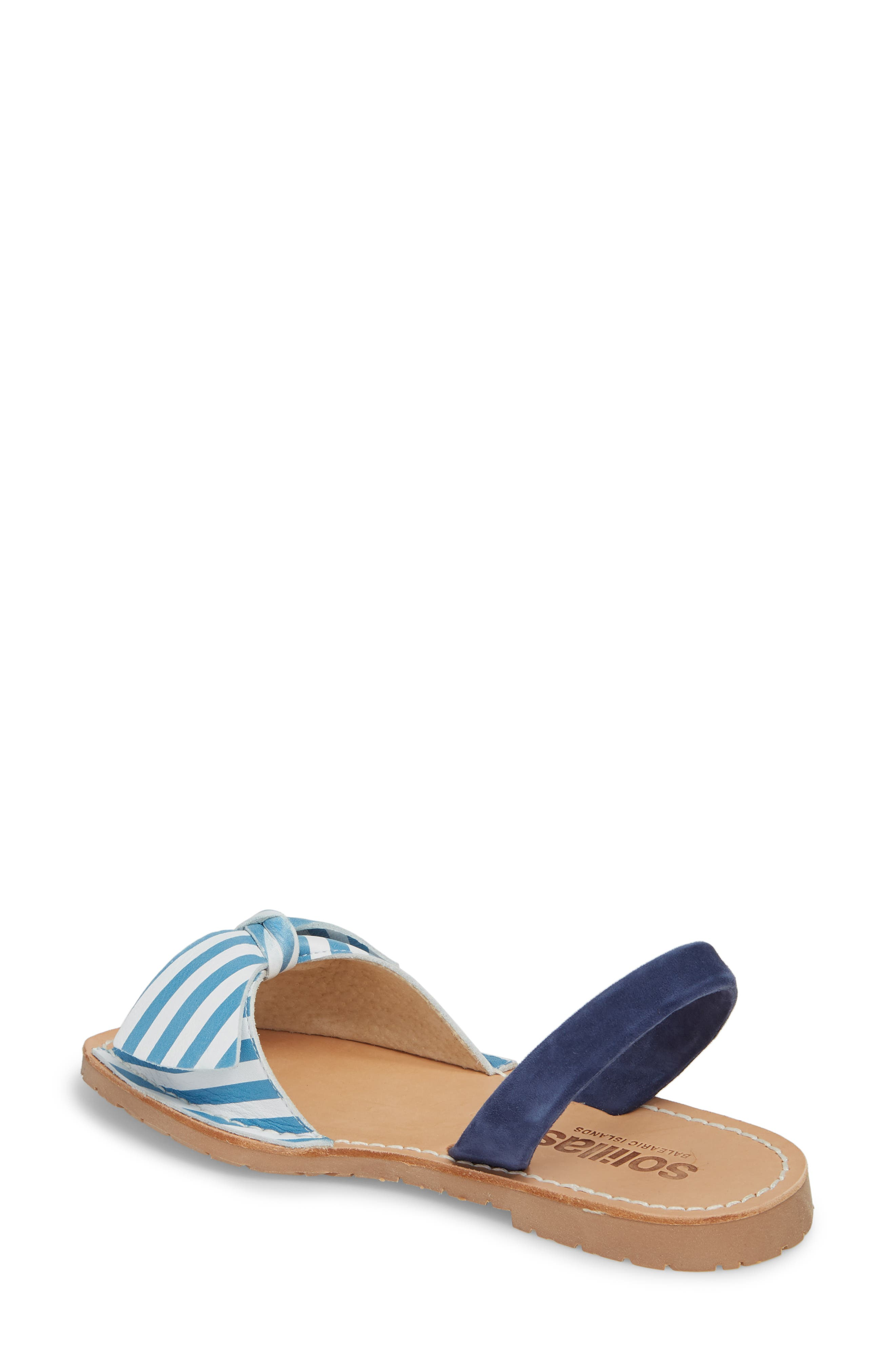 Bow Sandal,                             Alternate thumbnail 2, color,                             BLUE AND WHITE