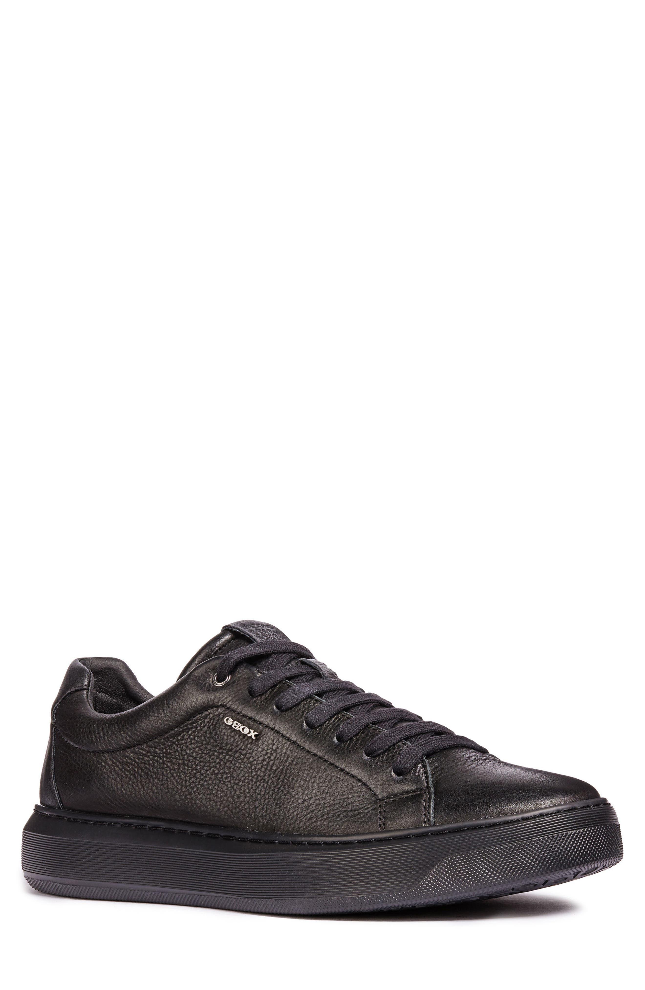 Deiven 4 Low Top Sneaker,                             Main thumbnail 1, color,                             BLACK LEATHER