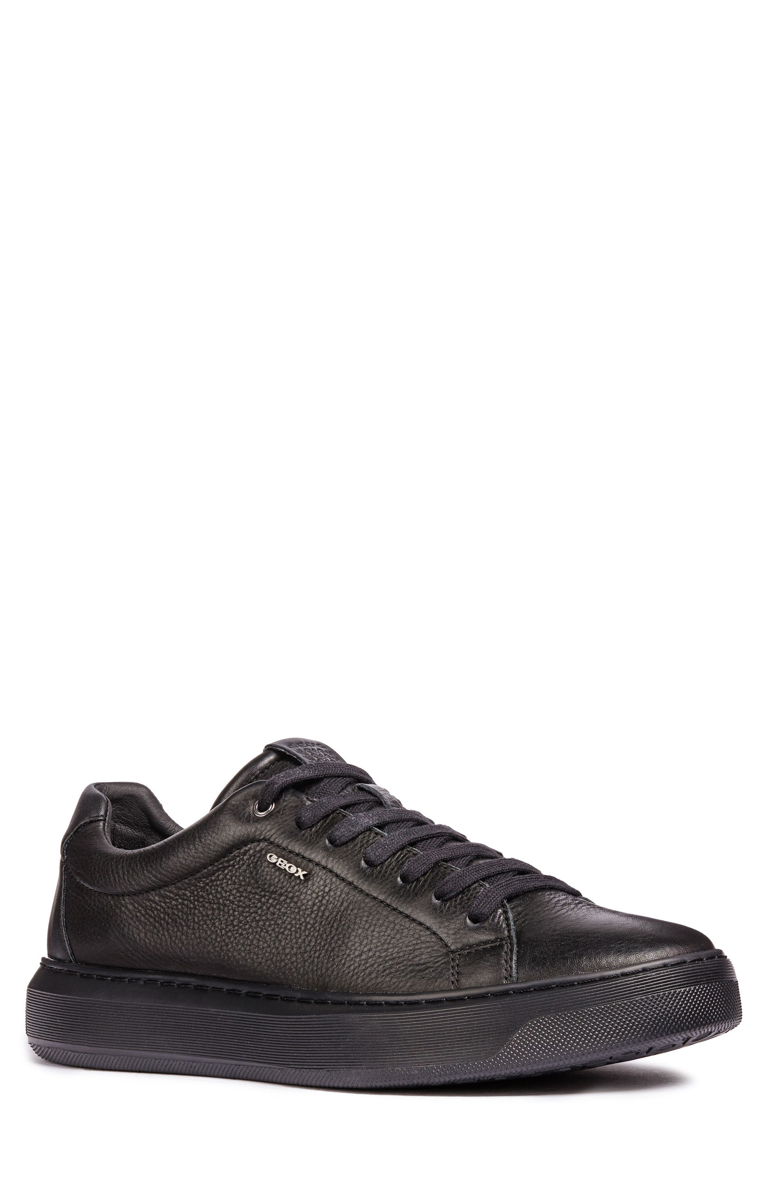 Deiven 4 Low Top Sneaker,                         Main,                         color, BLACK LEATHER