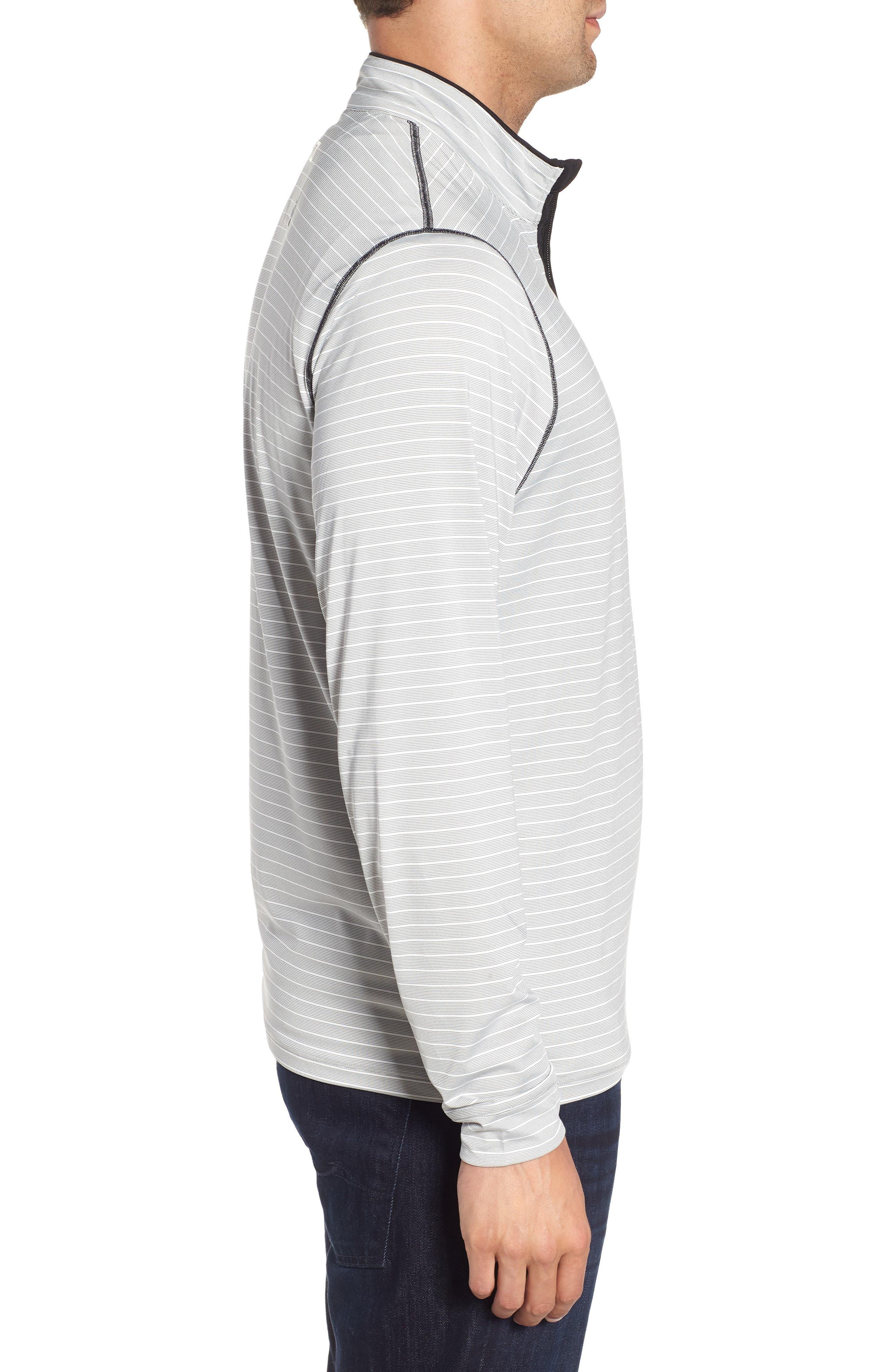 Meridian - Pittsburgh Steelers Regular Fit Half Zip Pullover,                             Alternate thumbnail 3, color,                             BLACK