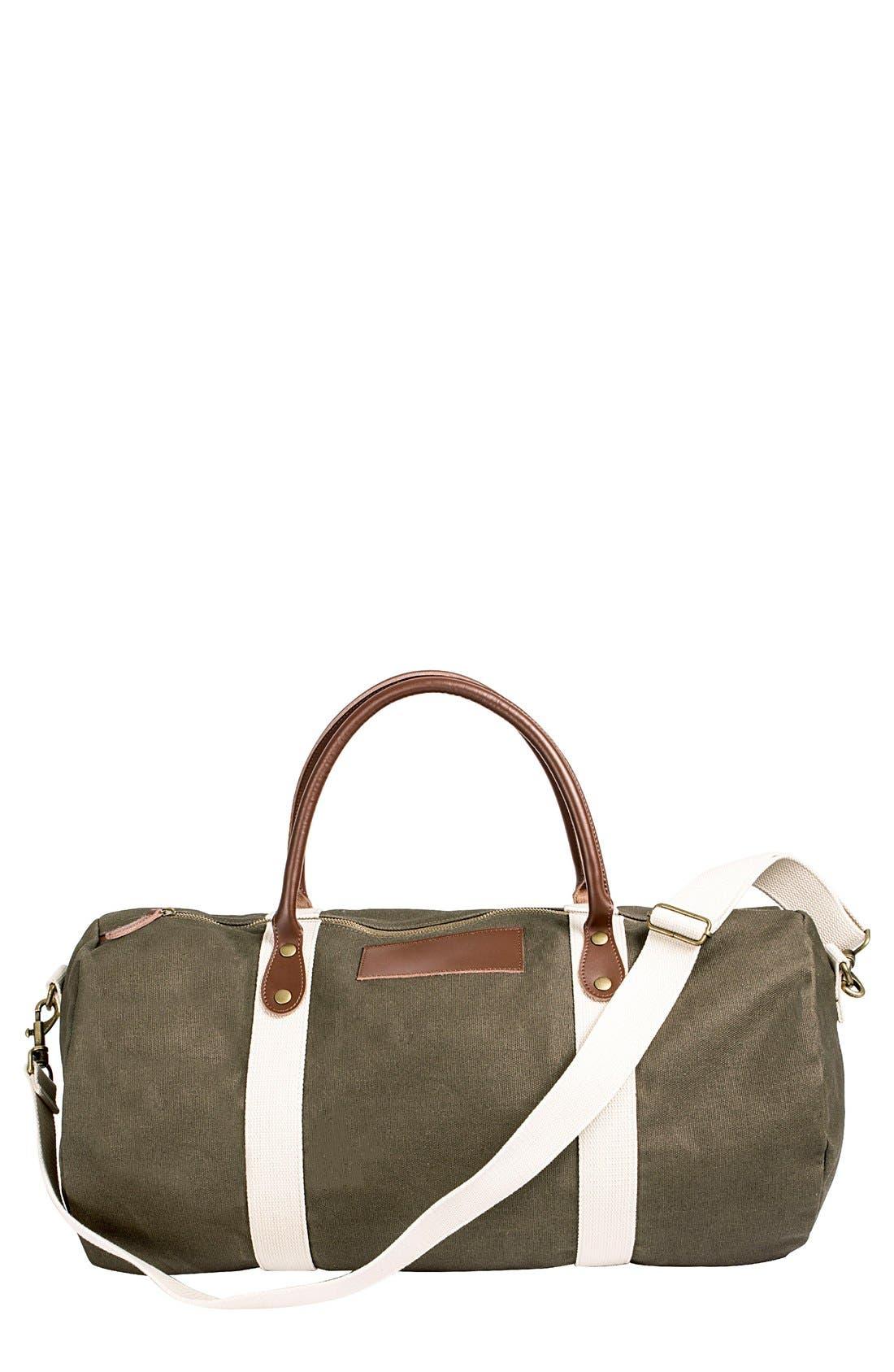 Monogram Duffel Bag,                             Main thumbnail 1, color,                             GREEN