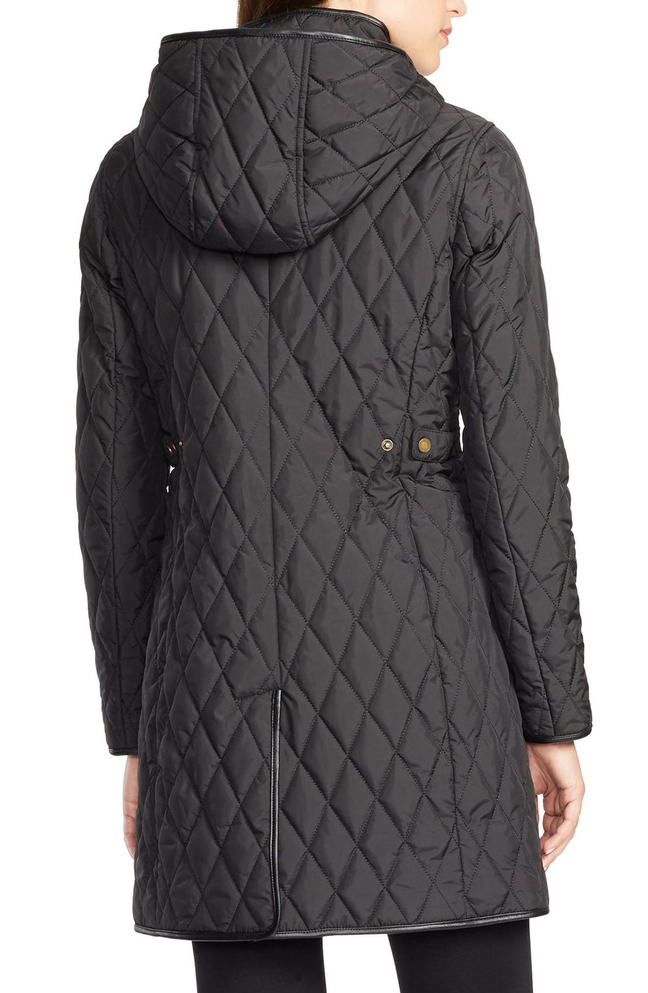 LAUREN RALPH LAUREN,                             Quilted Jacket,                             Alternate thumbnail 2, color,                             001