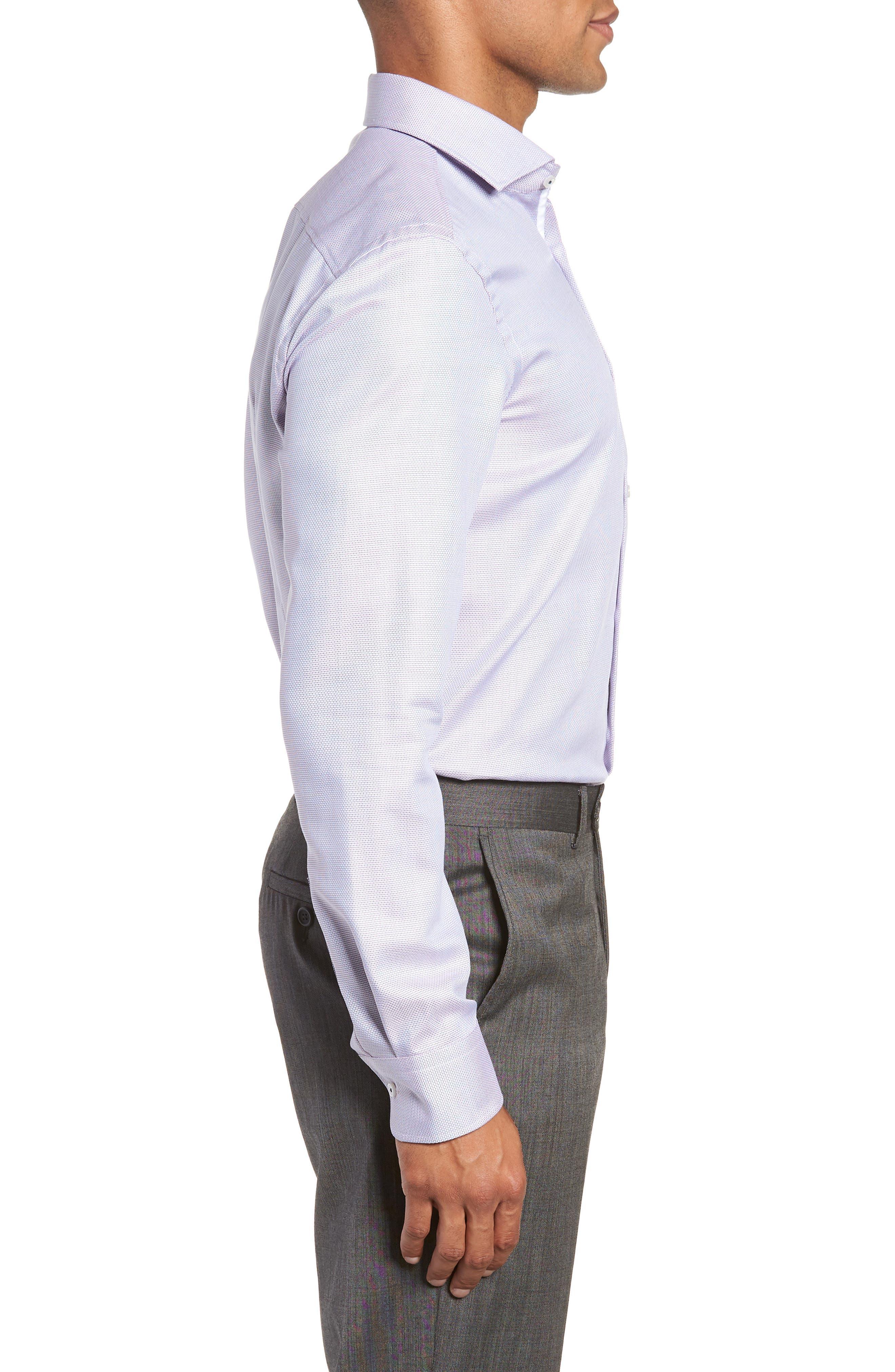 x Nordstrom Jerrin Slim Fit Solid Dress Shirt,                             Alternate thumbnail 4, color,                             LAVENDER