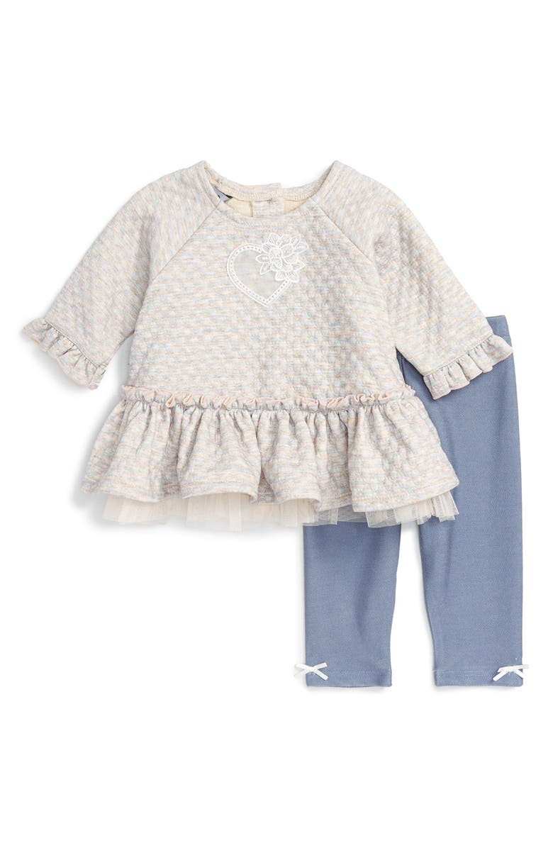 810e628f7 Pippa   Julie Heart Embroidered Top   Leggings Set (Baby Girls ...