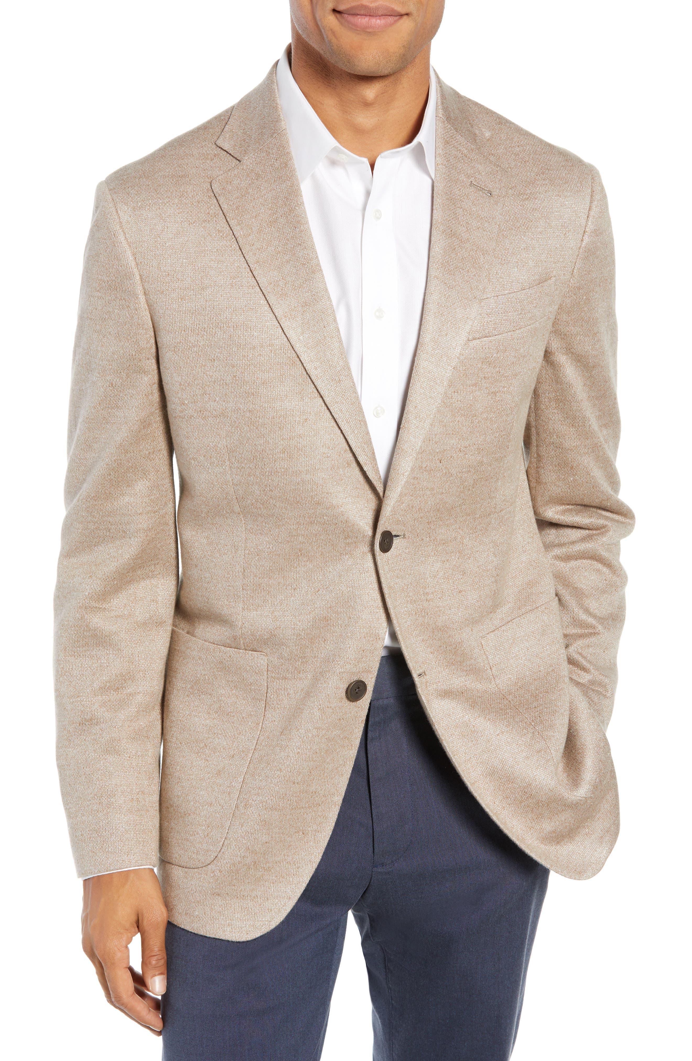 Trim Fit Linen Sport Coat,                             Main thumbnail 1, color,                             OATMEAL