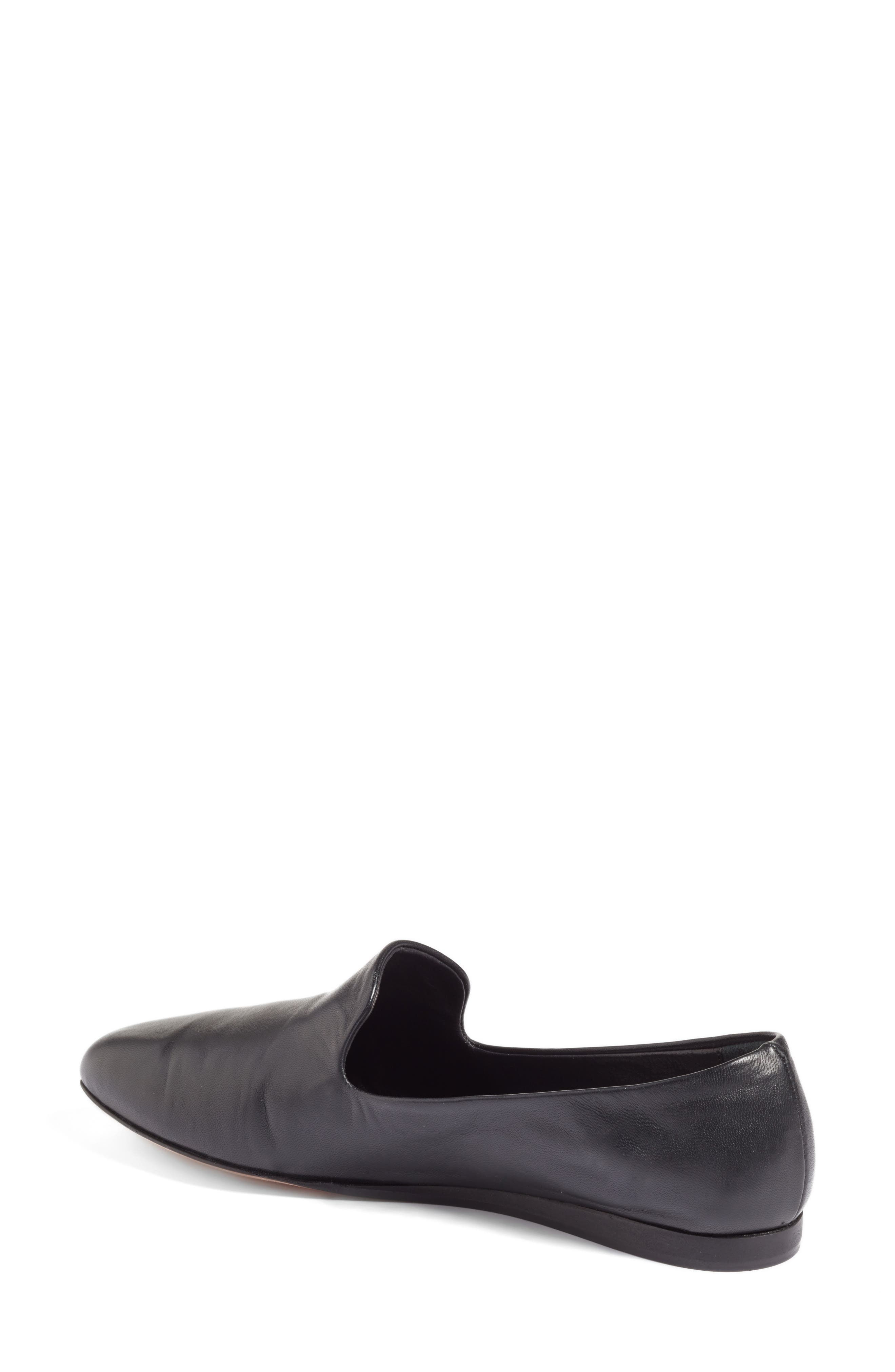 Griffin Pointy Toe Loafer,                             Alternate thumbnail 2, color,                             BLACK