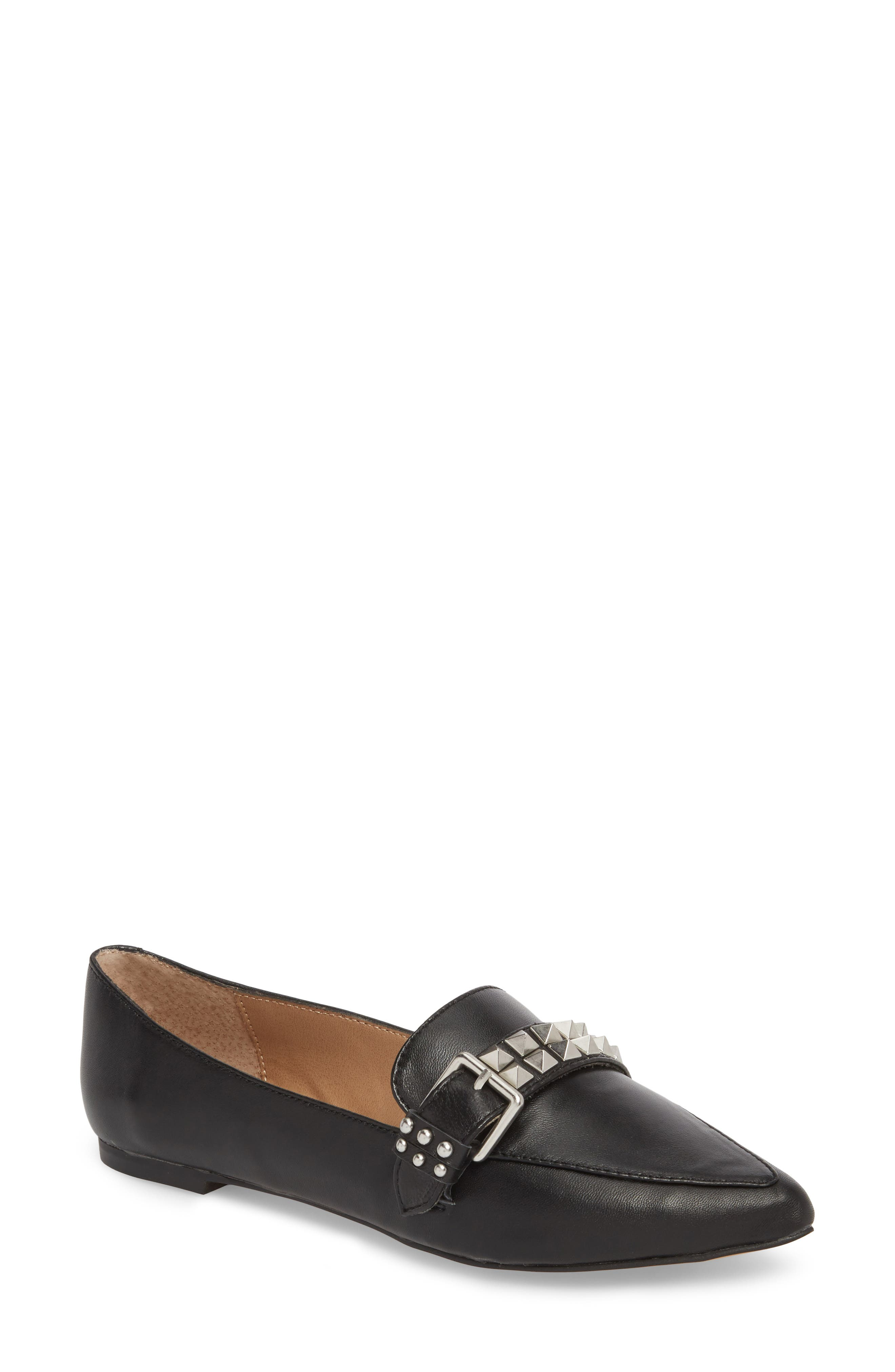 Fire Studded Loafer,                             Main thumbnail 1, color,                             001