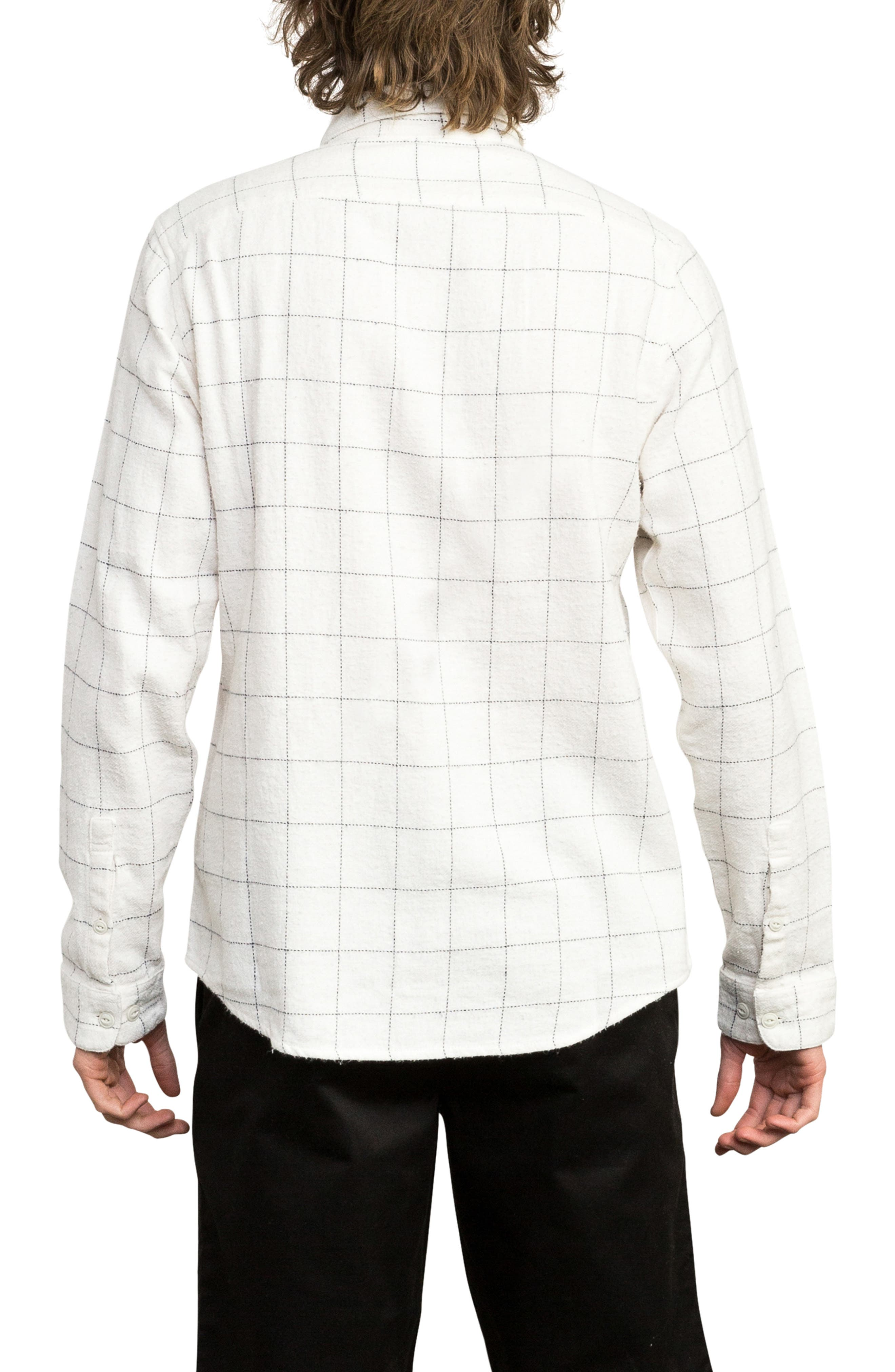 Arc Flannel Shirt,                             Alternate thumbnail 2, color,                             SILVER BLEACH