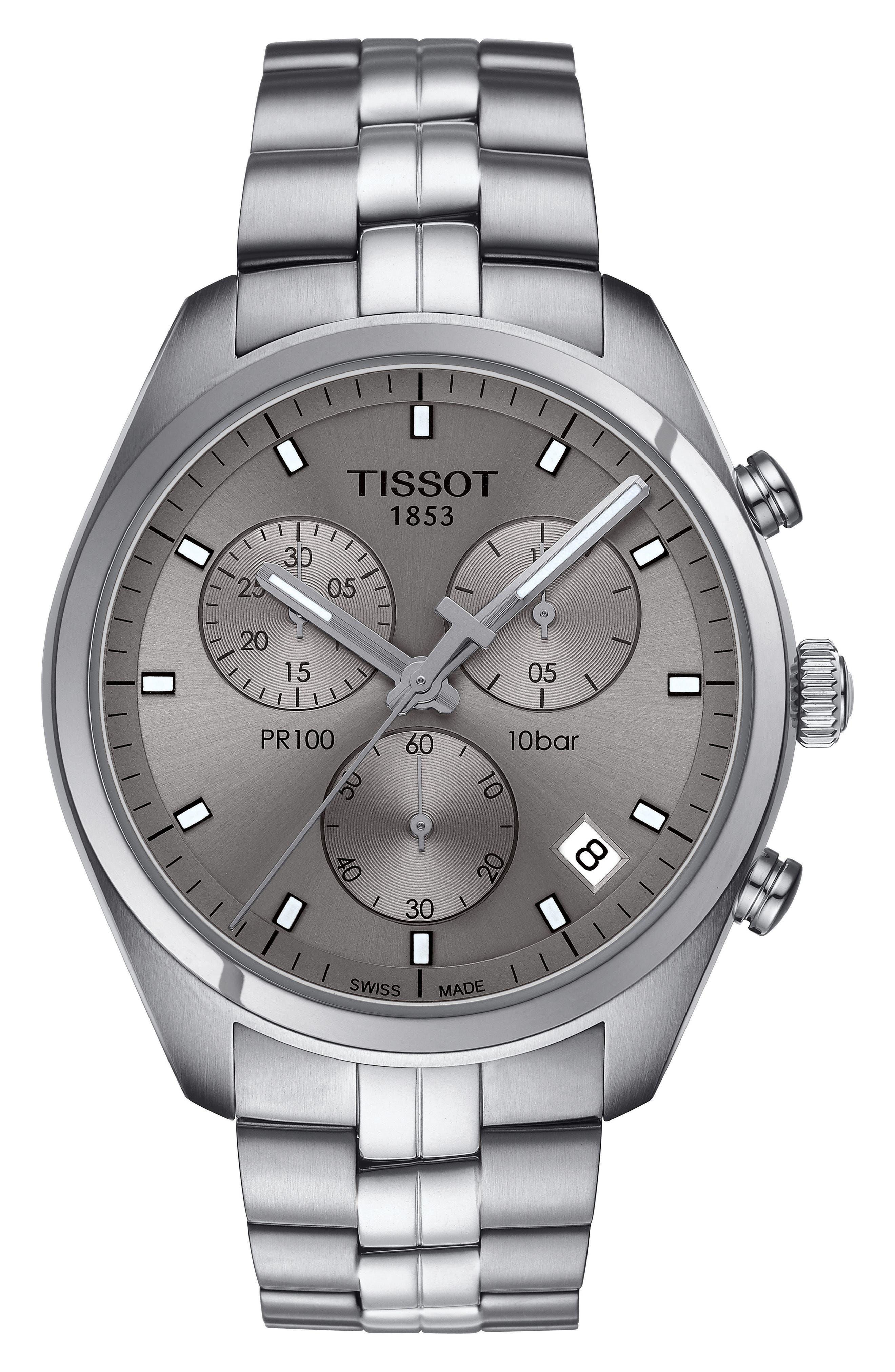 PR100 Chronograph Bracelet Watch, 41mm,                         Main,                         color, 040