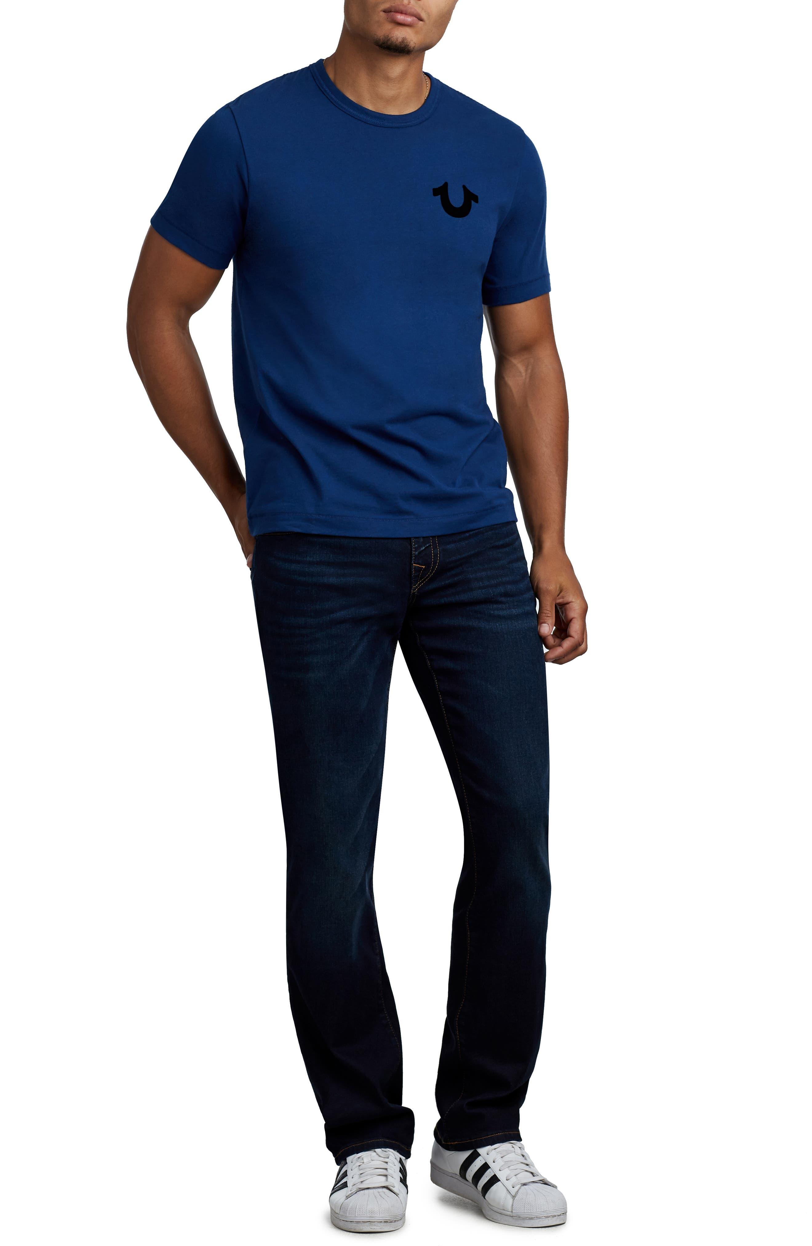 True Religion Staple Stitch Buddha T-Shirt,                             Alternate thumbnail 3, color,                             COBALT BLUE