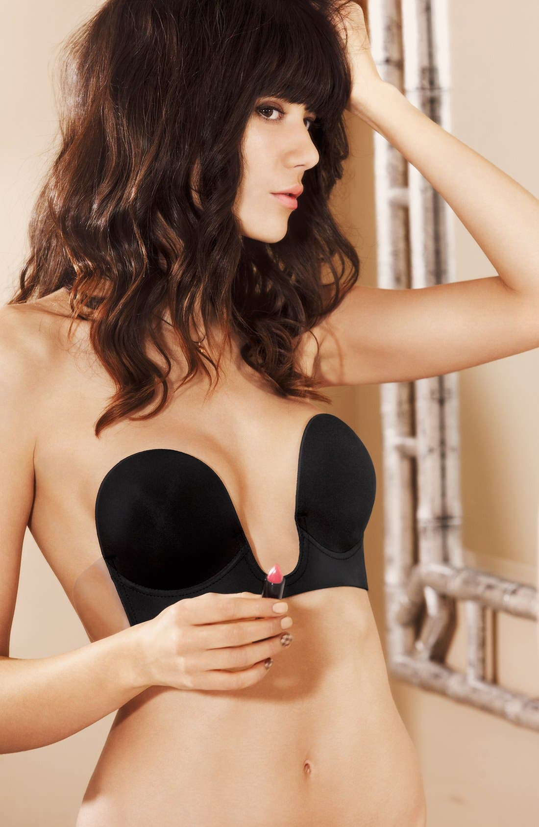 'Uplunge' Backless Strapless Underwire Bra,                             Alternate thumbnail 10, color,                             BLACK