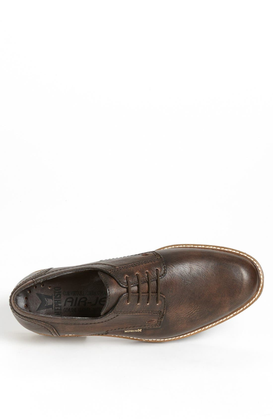 'Waino' Plain Toe Derby,                             Alternate thumbnail 3, color,                             BROWN DISTRESSED LEATHER