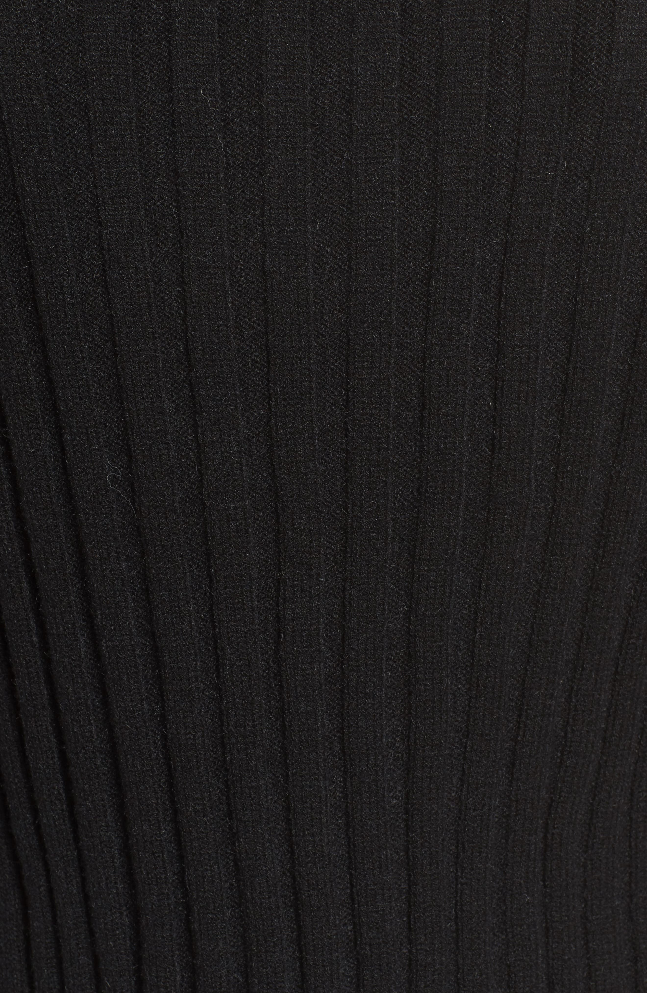 Crop Ribbed Sweater,                             Alternate thumbnail 5, color,                             001