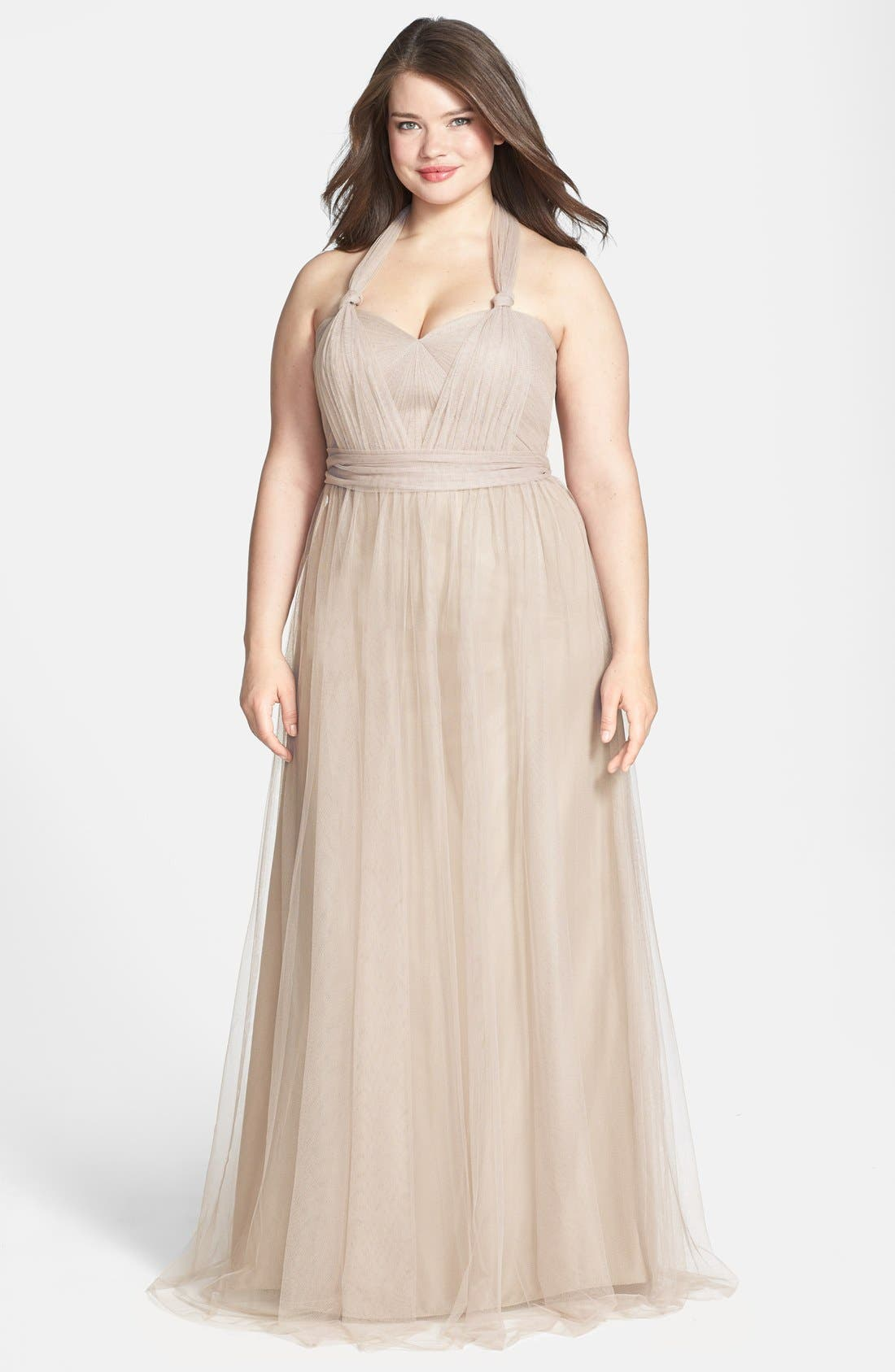 Annabelle Convertible Tulle Column Dress,                             Alternate thumbnail 103, color,
