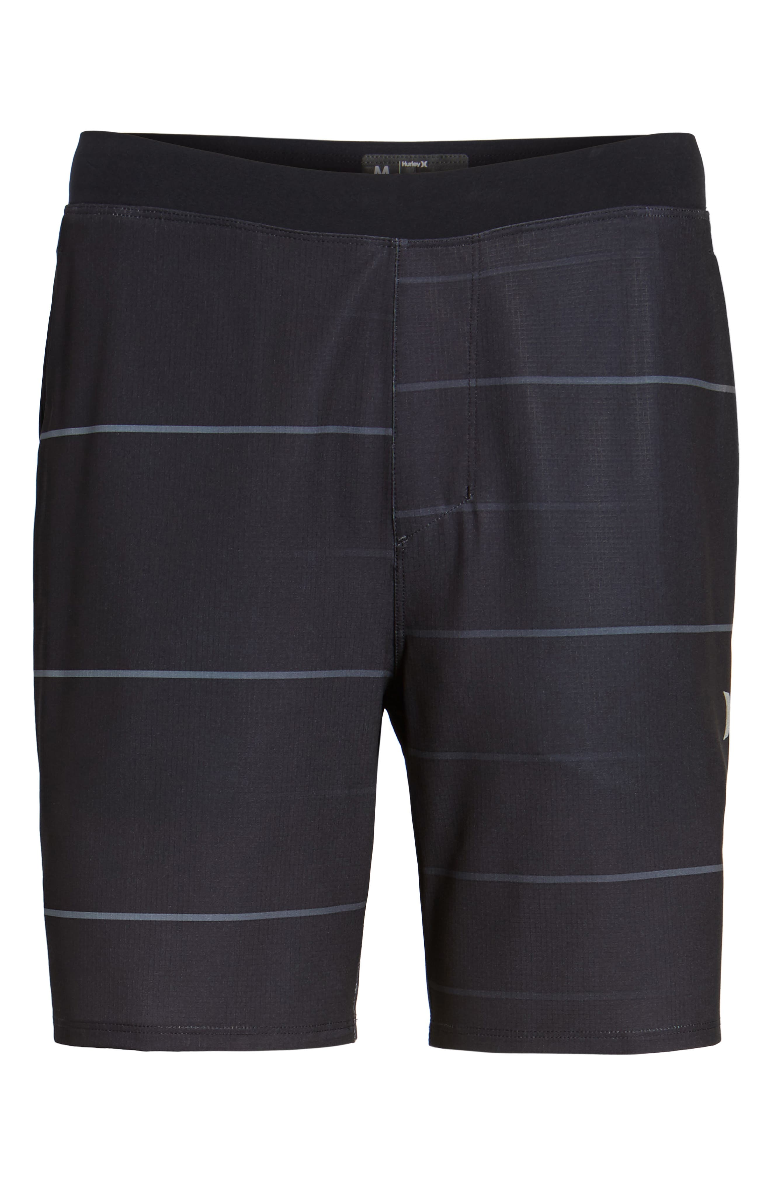 Alpha Trainer Stripe Shorts,                             Alternate thumbnail 6, color,                             010