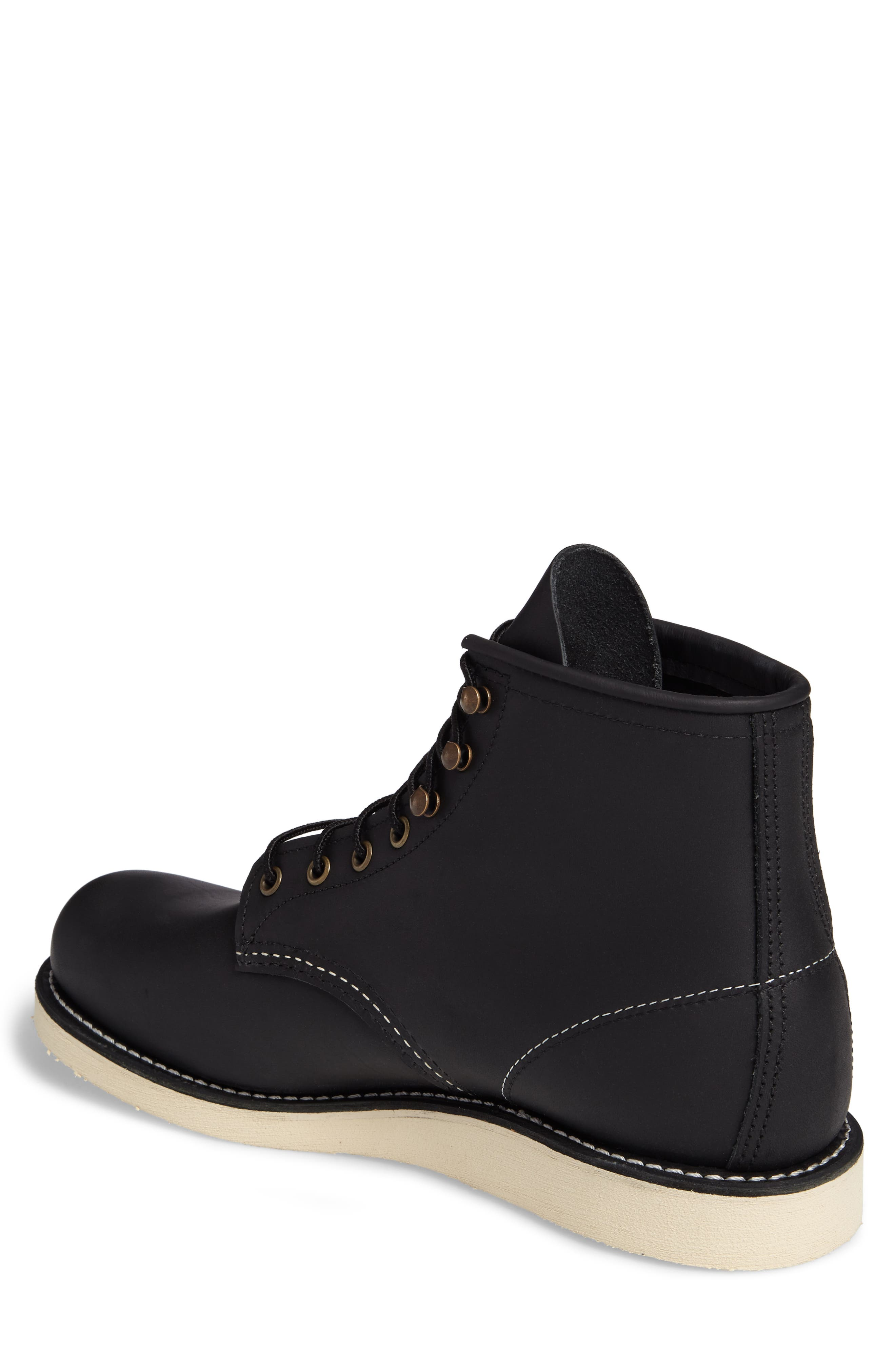 RED WING,                             Rover Plain Toe Boot,                             Alternate thumbnail 2, color,                             BLACK HARNESS LEATHER