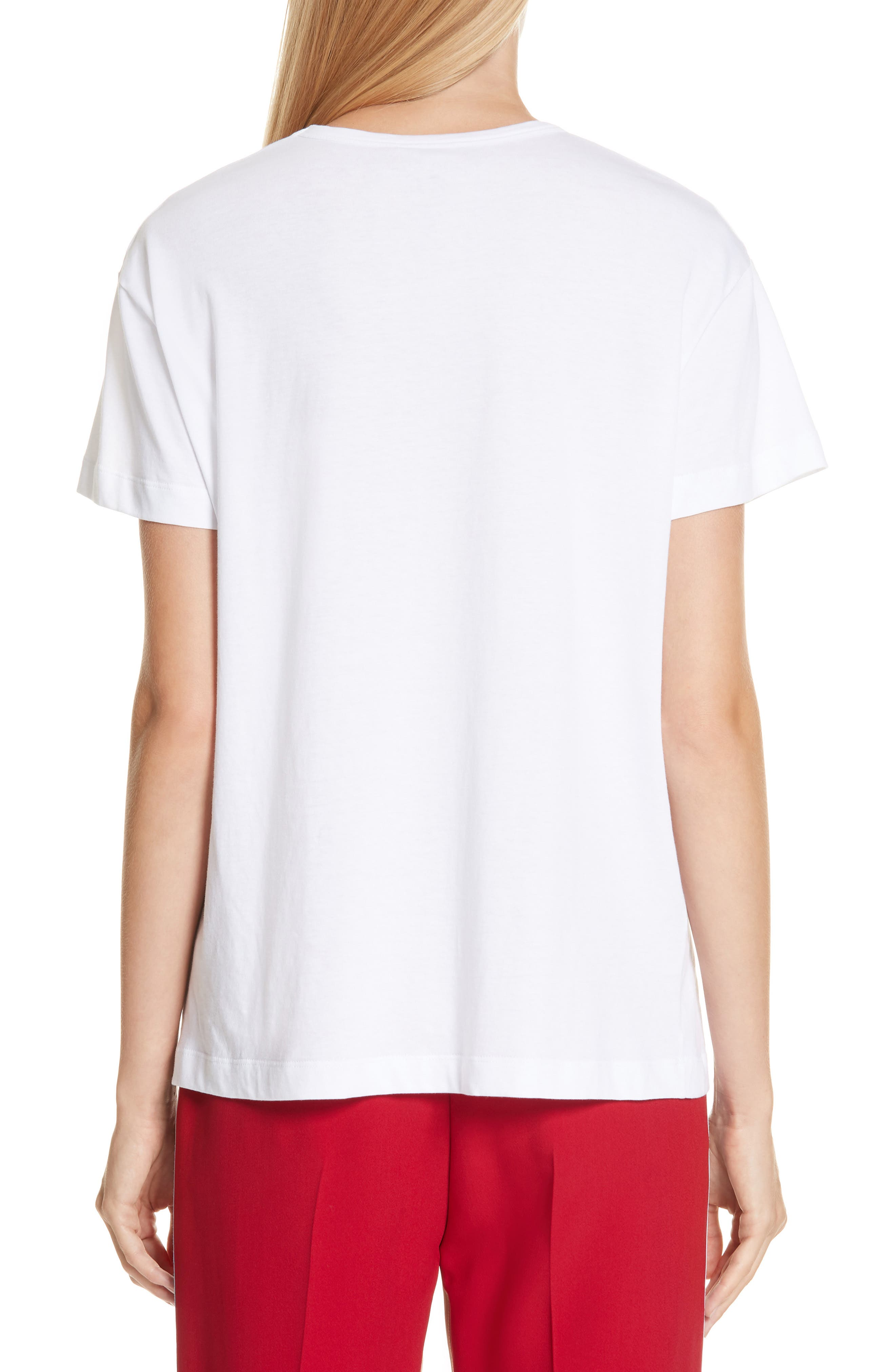 Nº21 Photograph Pocket Tee,                             Alternate thumbnail 2, color,                             WHITE
