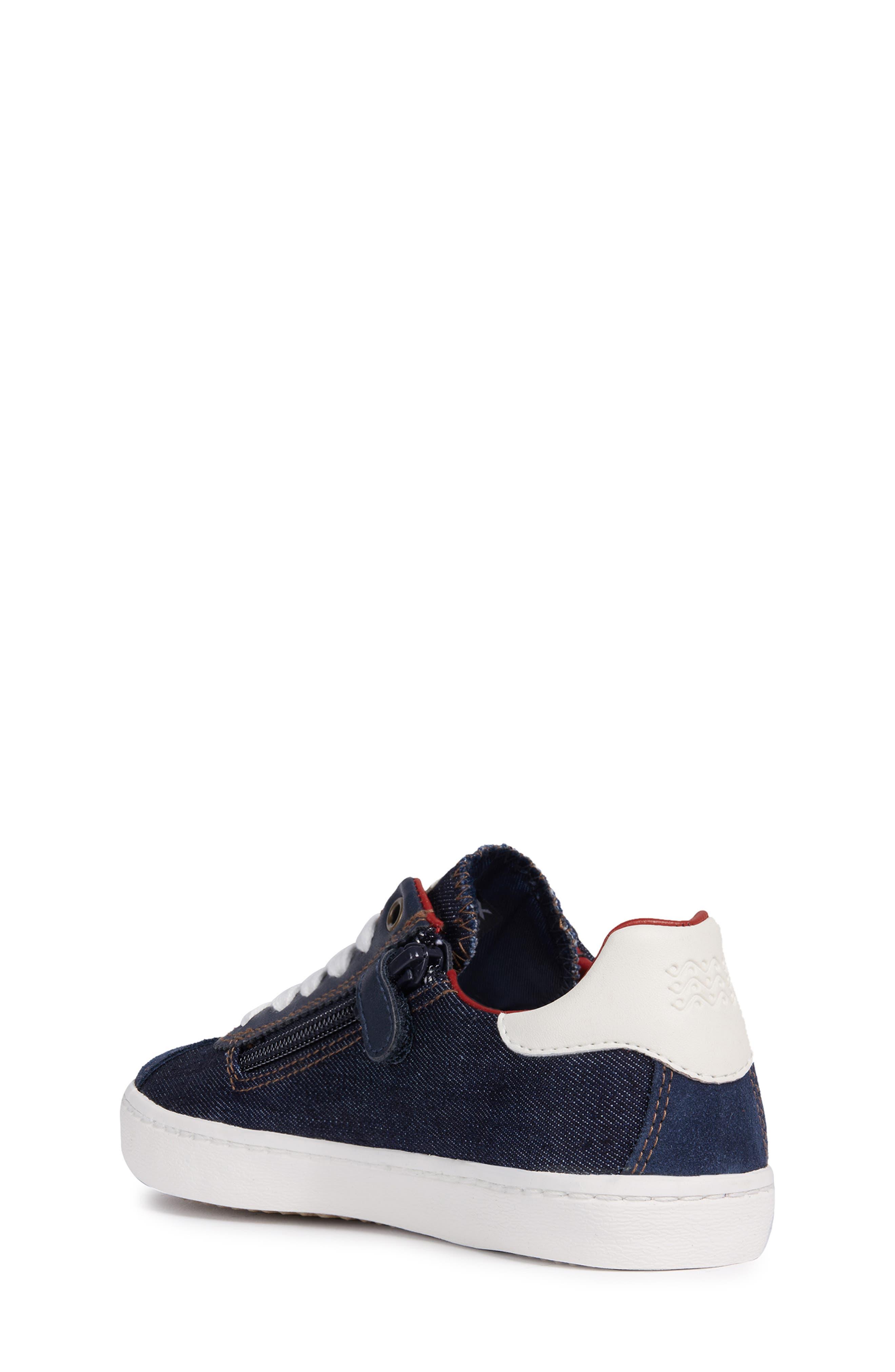 Kilwi Zip Low Top Sneaker,                             Alternate thumbnail 2, color,                             NAVY