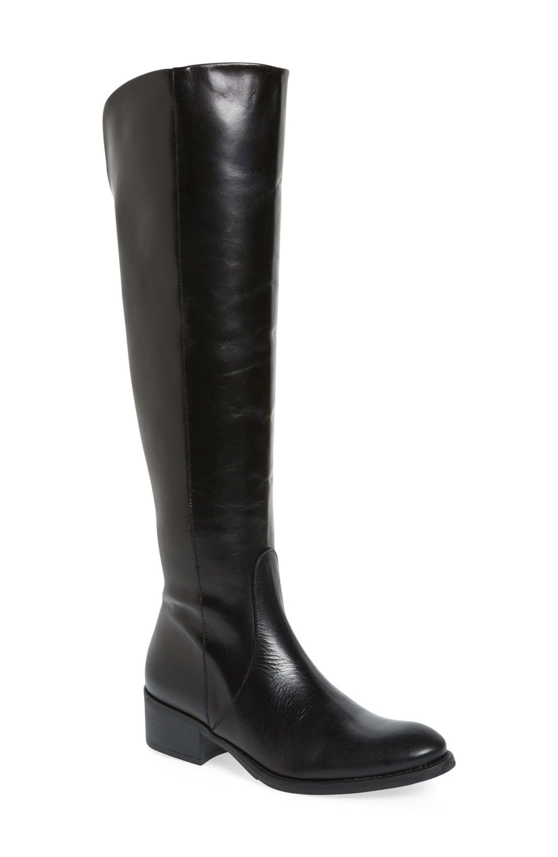 'Tallin' Over-The-Knee Riding Boot,                             Main thumbnail 1, color,                             BLACK LEATHER