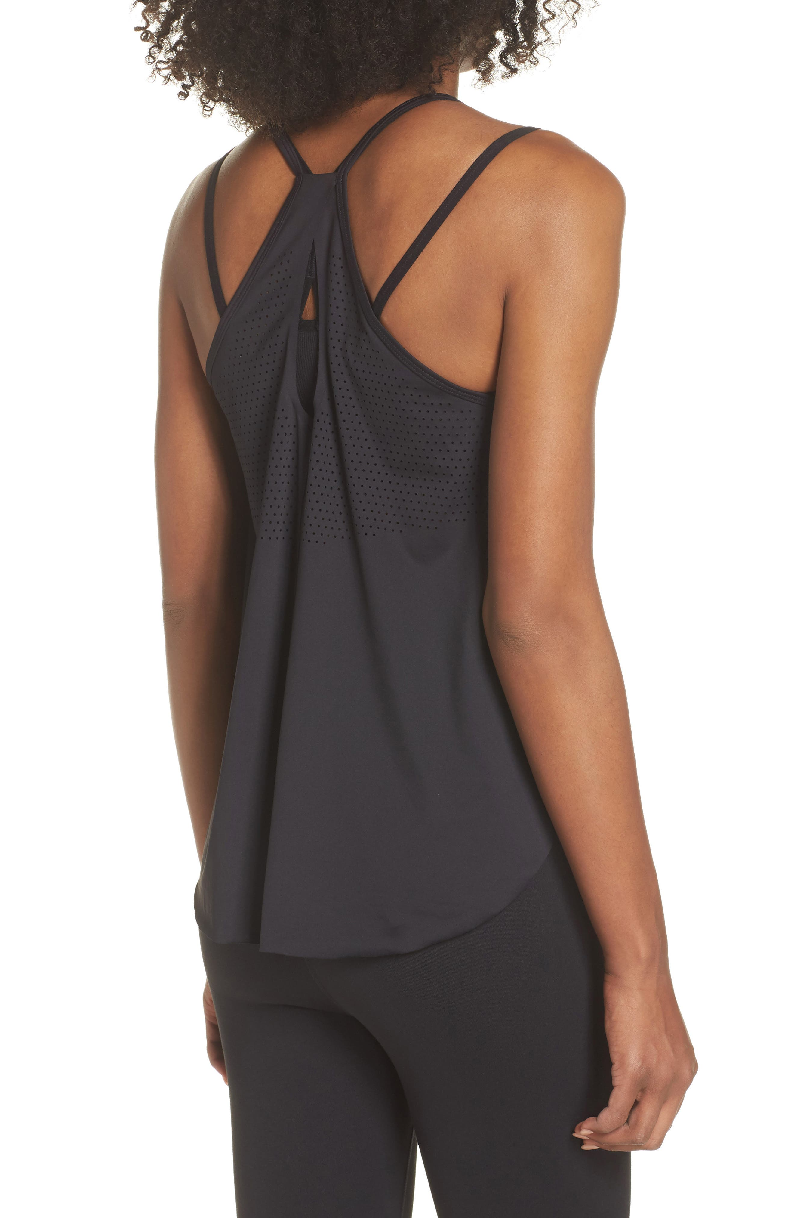 Fera Perforated Tank,                             Alternate thumbnail 2, color,                             001
