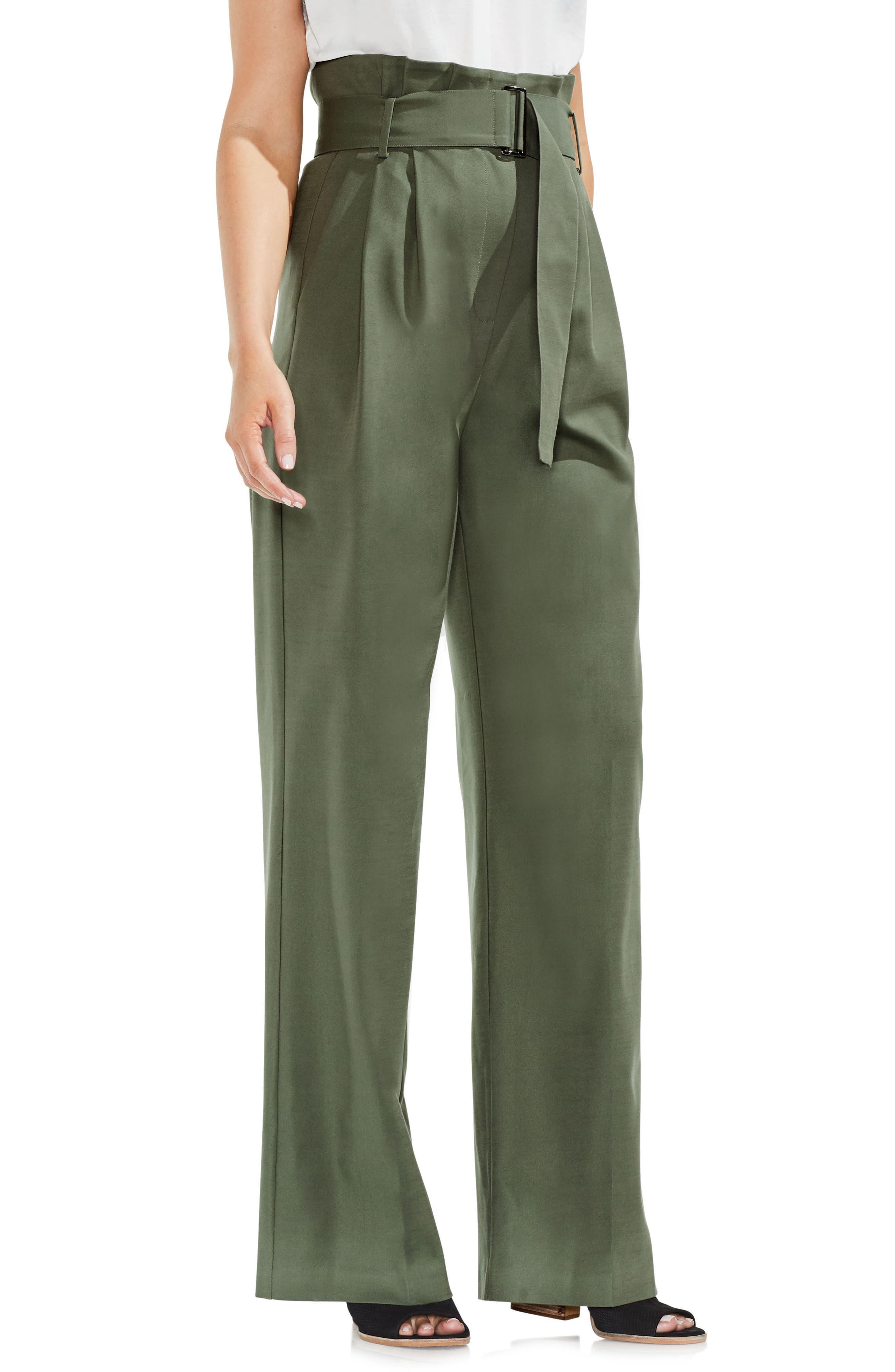 Wide Leg Belted Pants,                             Main thumbnail 2, color,