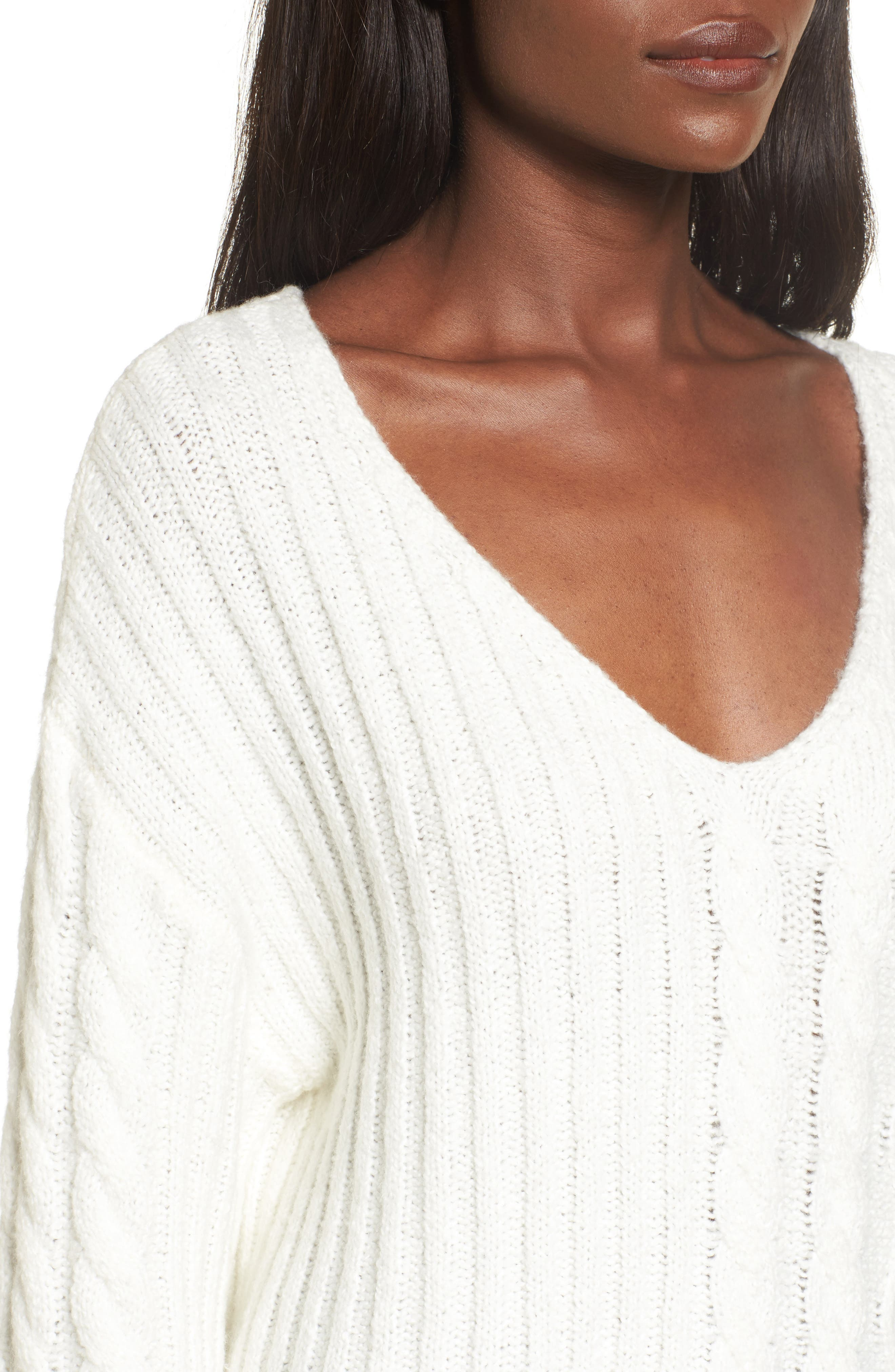 Mix Stitch Cotton Blend Sweater,                             Alternate thumbnail 8, color,