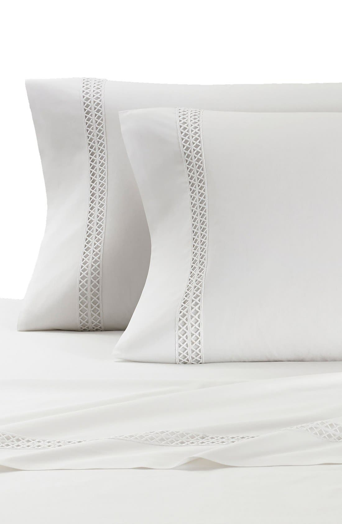 Emilia Pillowcases,                             Main thumbnail 1, color,                             WHITE
