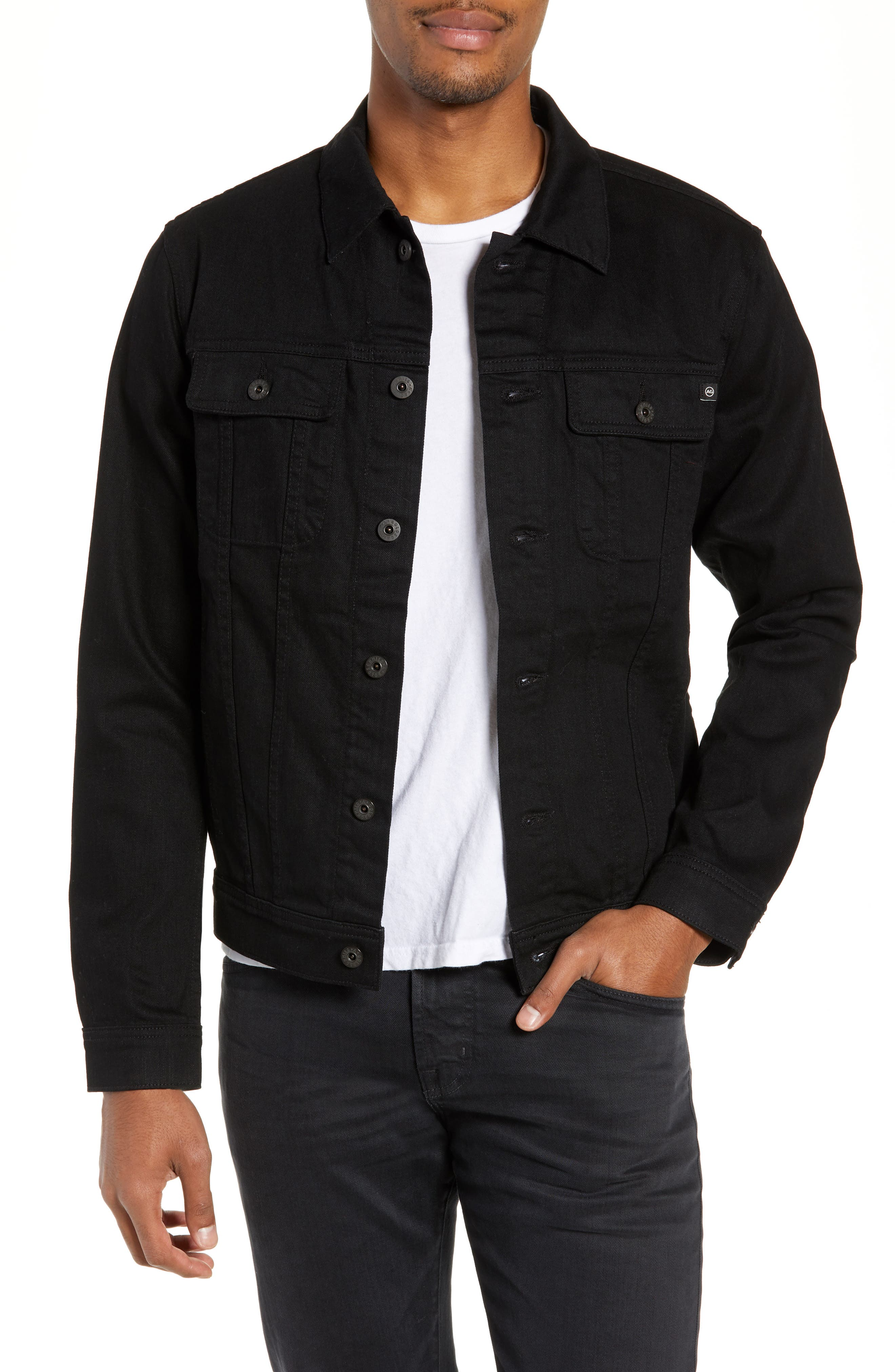 AG,                             Dart Denim Jacket,                             Main thumbnail 1, color,                             DEEP PITCH