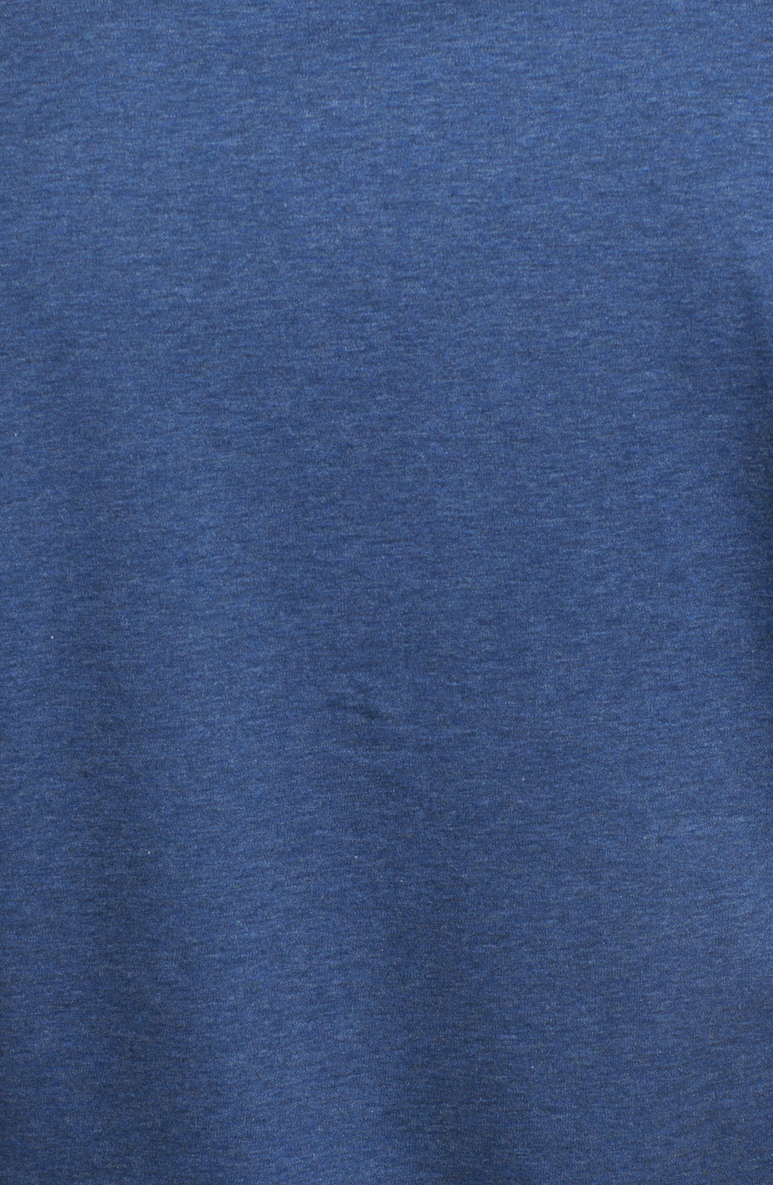 Regular Fit Heather Knit Sport Shirt,                             Alternate thumbnail 5, color,                             NAVY