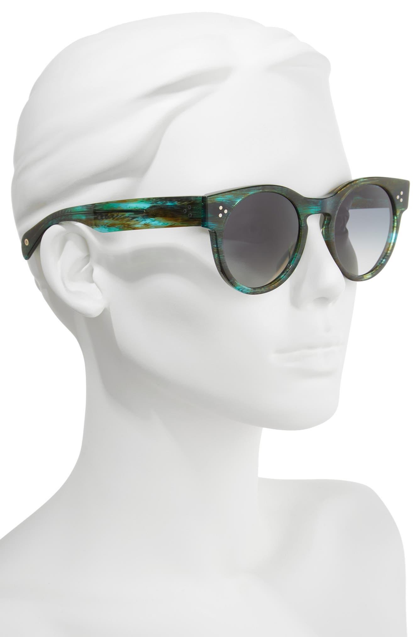 Wilcox 51mm Polarized Bold Round Sunglasses,                             Alternate thumbnail 4, color,
