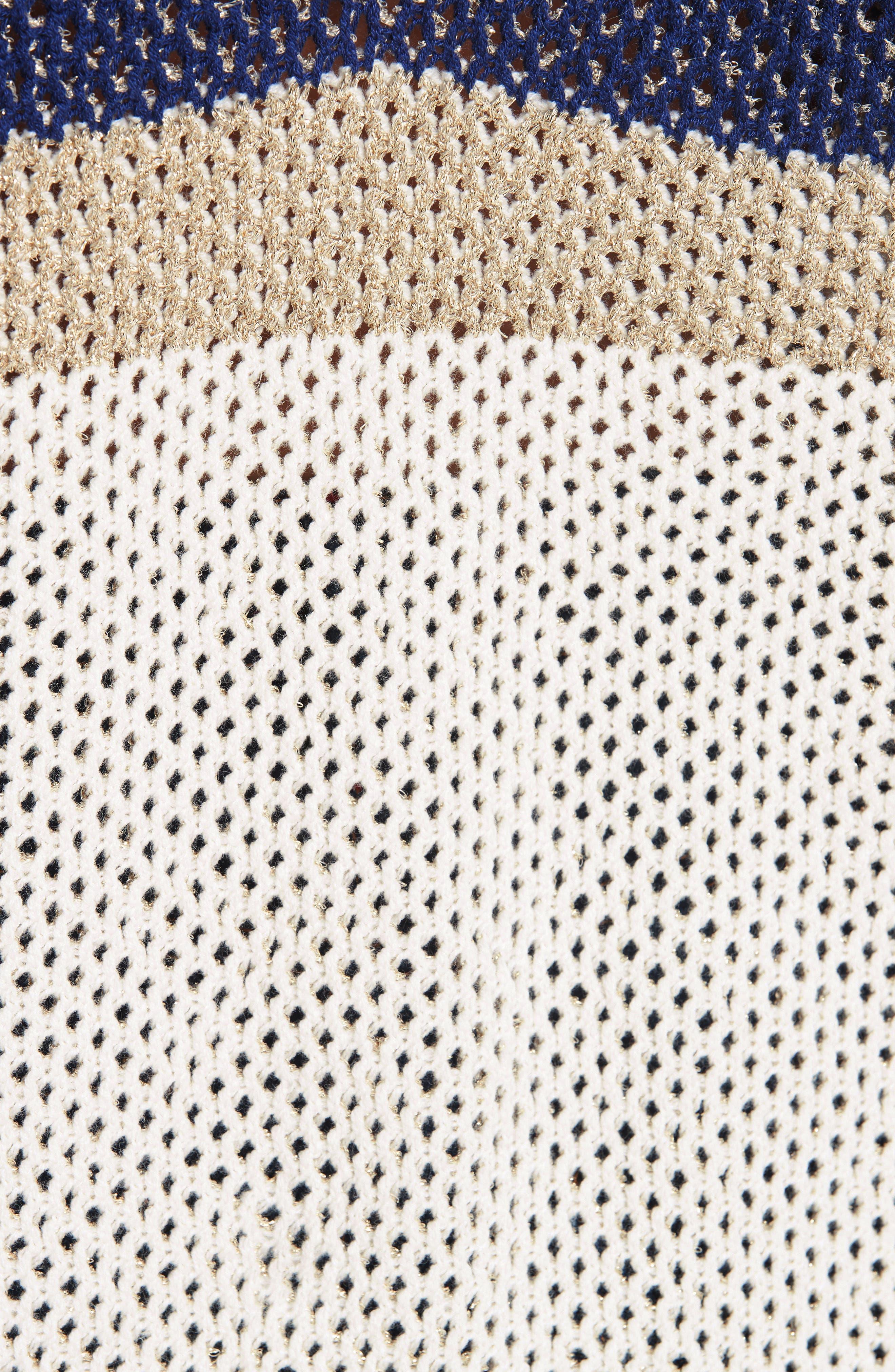 Hera Colorblock V-Back Sweater,                             Alternate thumbnail 5, color,                             MULTICOLOR