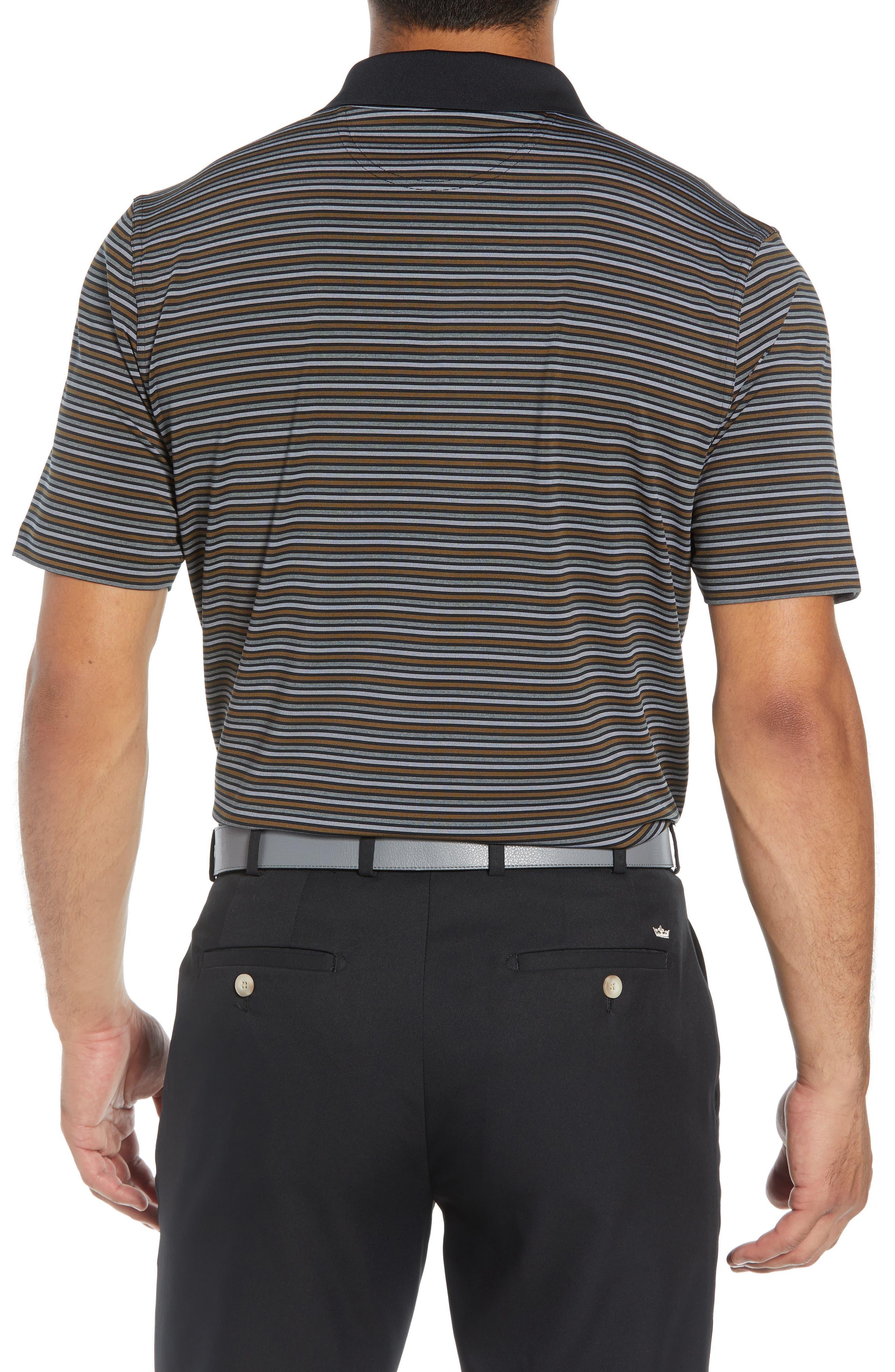 XH2O Copper Stripe Classic Polo,                             Alternate thumbnail 2, color,                             BLACK