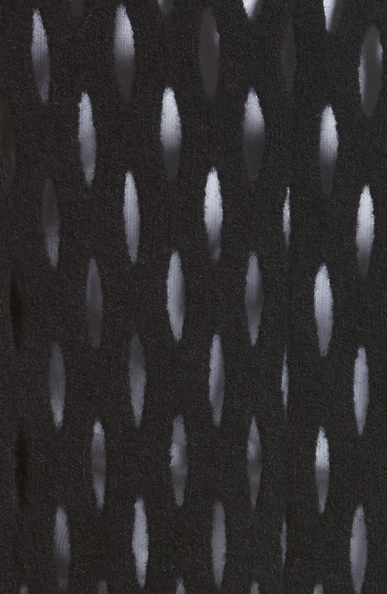 Intarsia Fishnet Cardigan,                             Alternate thumbnail 5, color,                             001