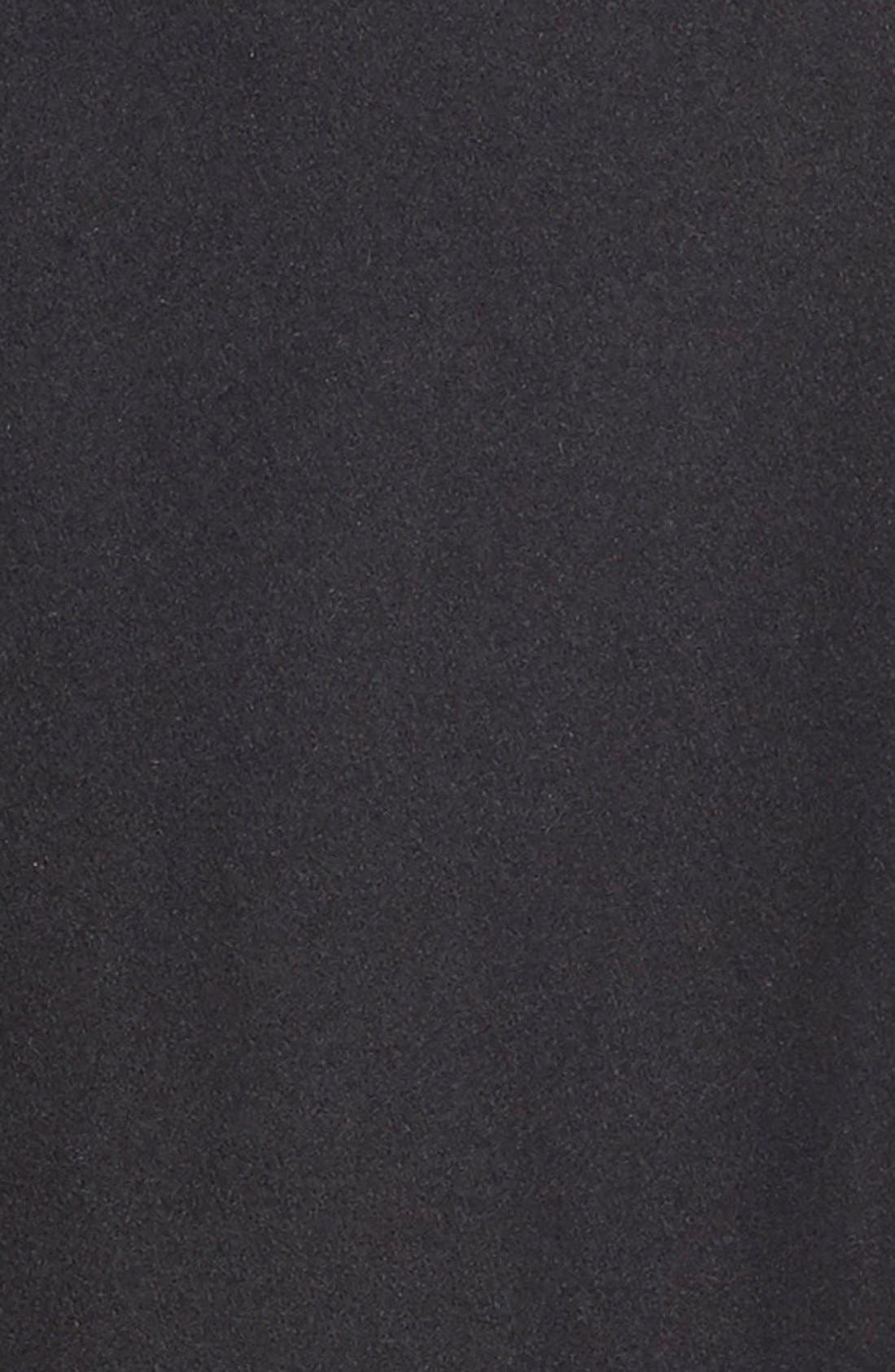 Melton Coat,                             Alternate thumbnail 6, color,                             BLACK