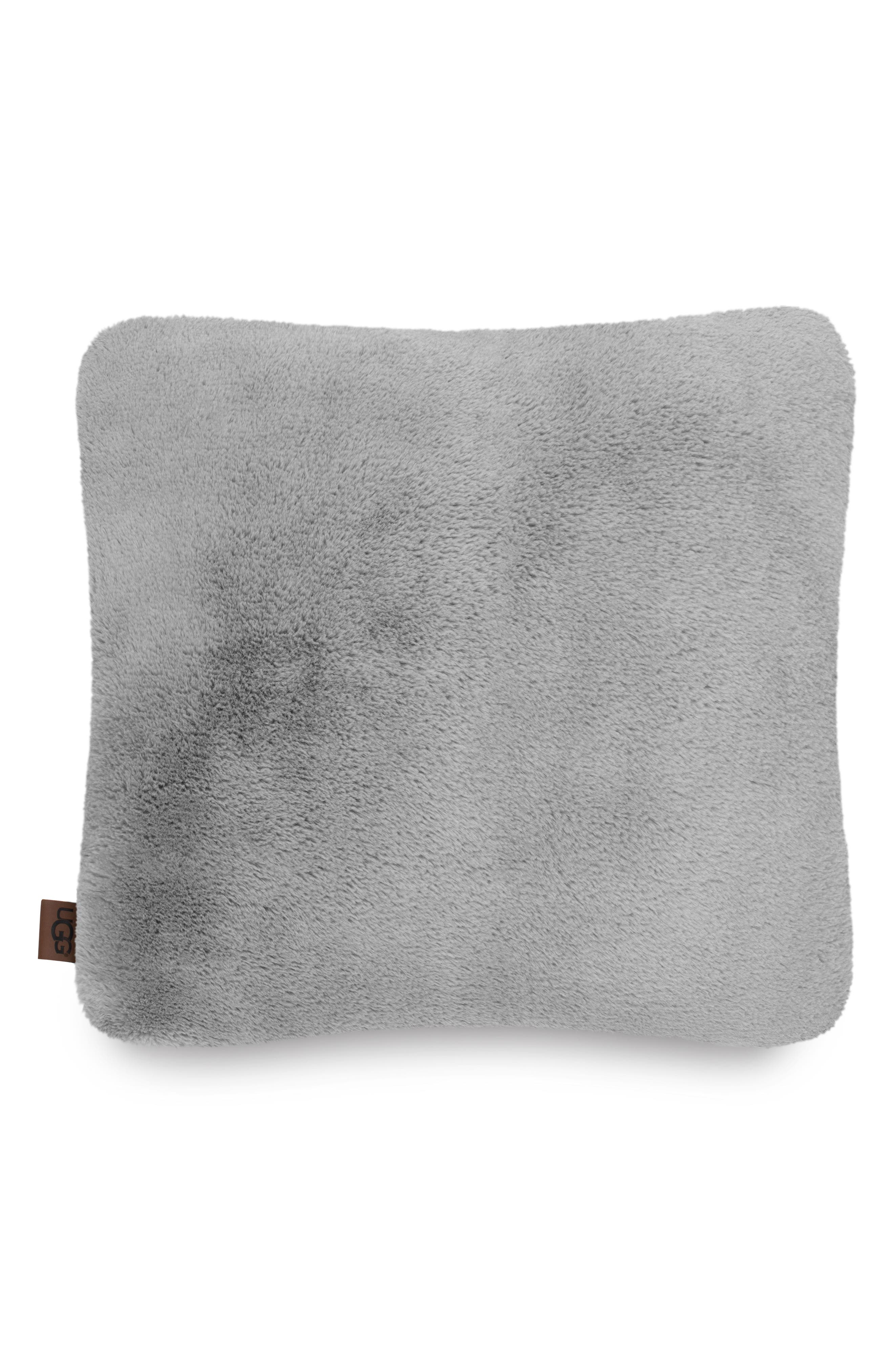 UGG<SUP>®</SUP>,                             Coastline Faux Fur Pillow,                             Main thumbnail 1, color,                             SEAL