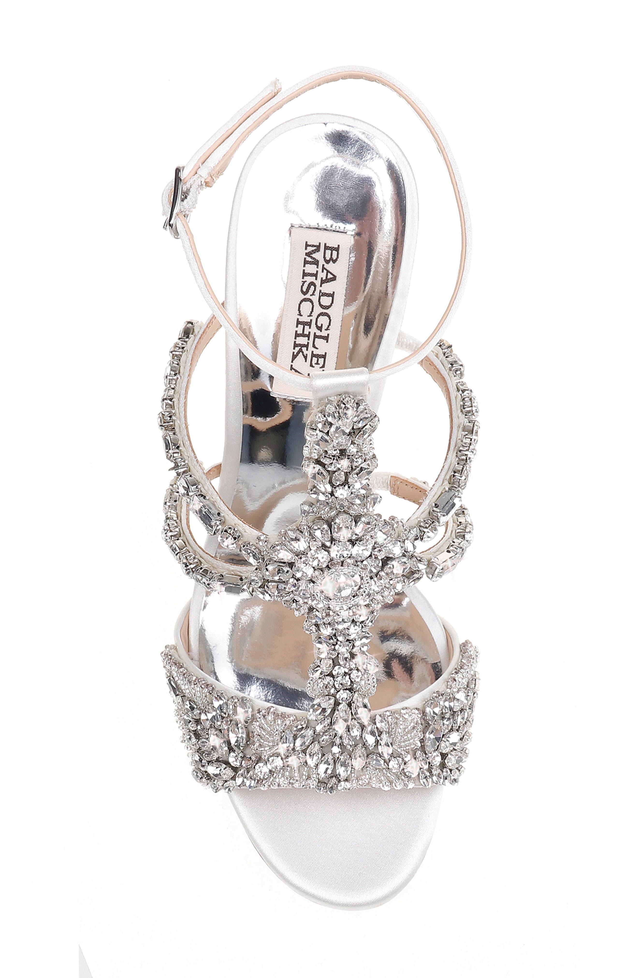 Badgley Mischka Hughes Crystal Embellished Sandal,                             Alternate thumbnail 5, color,                             142