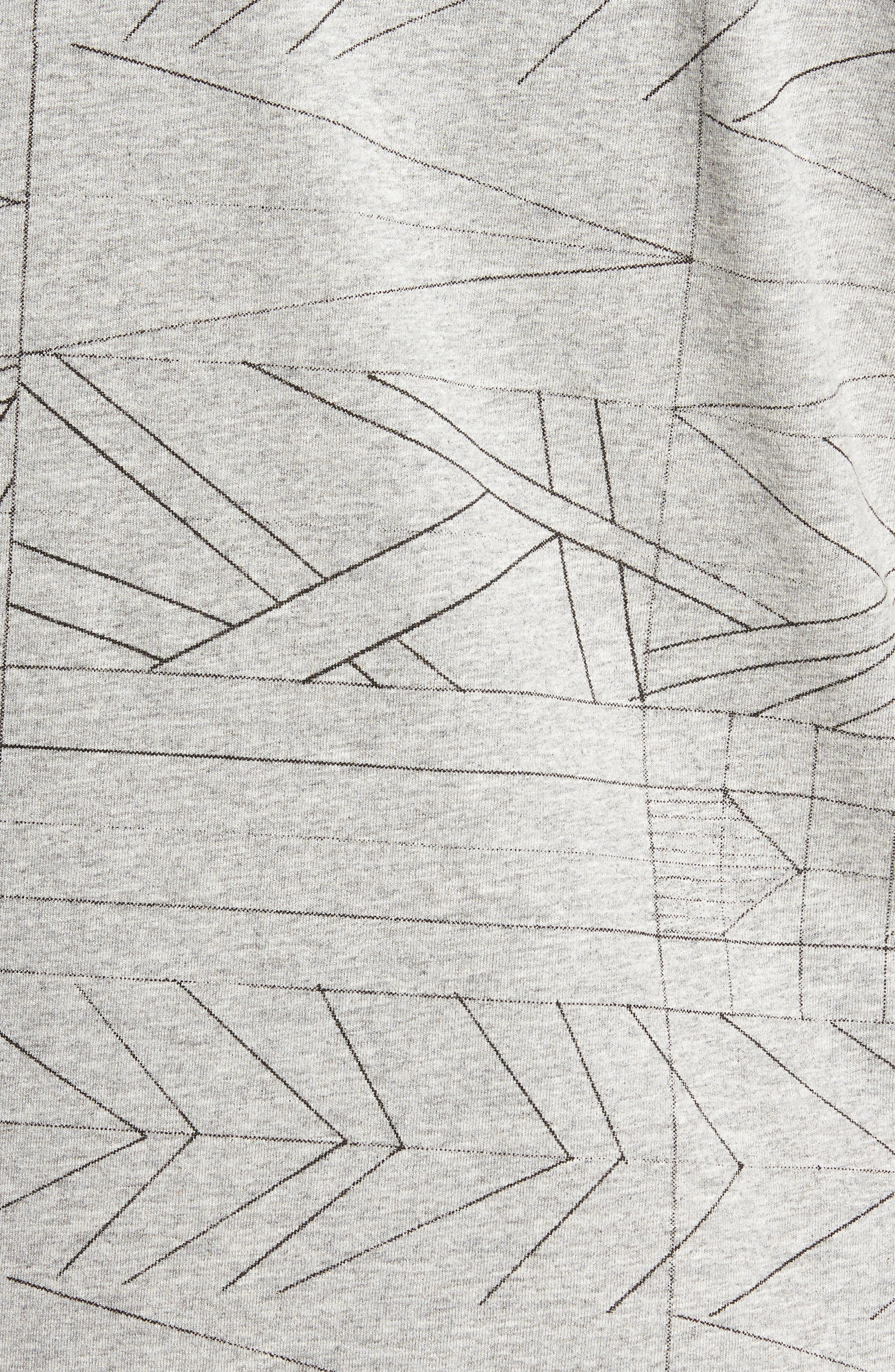 Fracture Line Crewneck T-Shirt,                             Alternate thumbnail 5, color,                             FRACTURE LINE