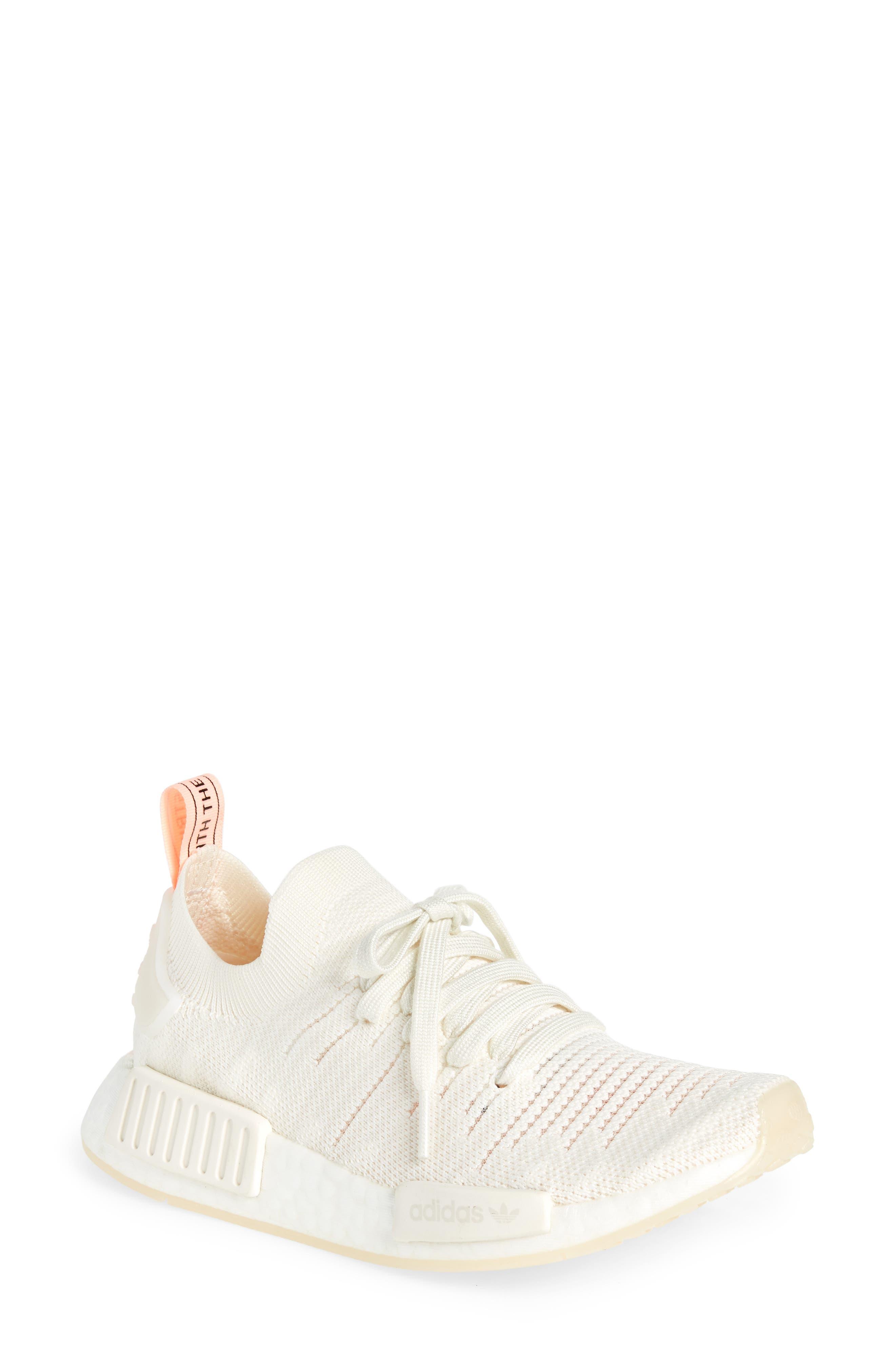 NMD R1 STLT Primeknit Sneaker,                             Main thumbnail 1, color,                             100