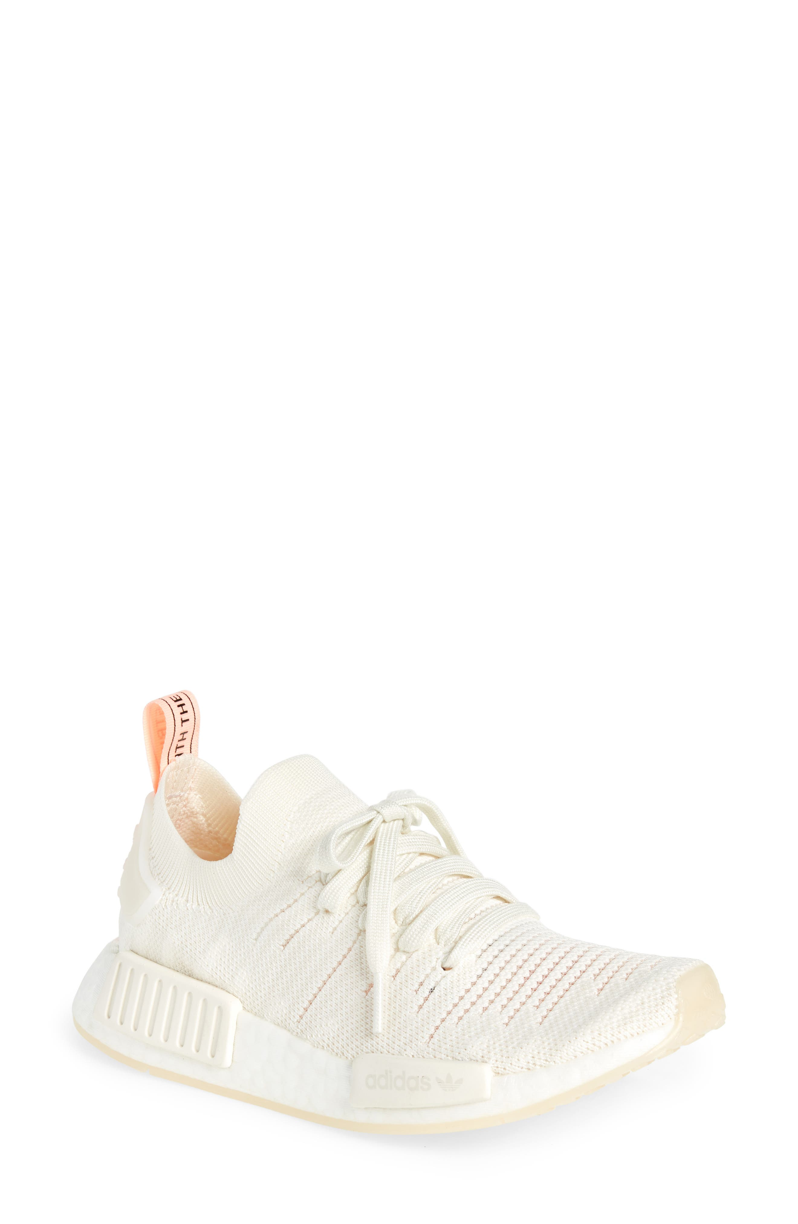 NMD R1 STLT Primeknit Sneaker, Main, color, 100