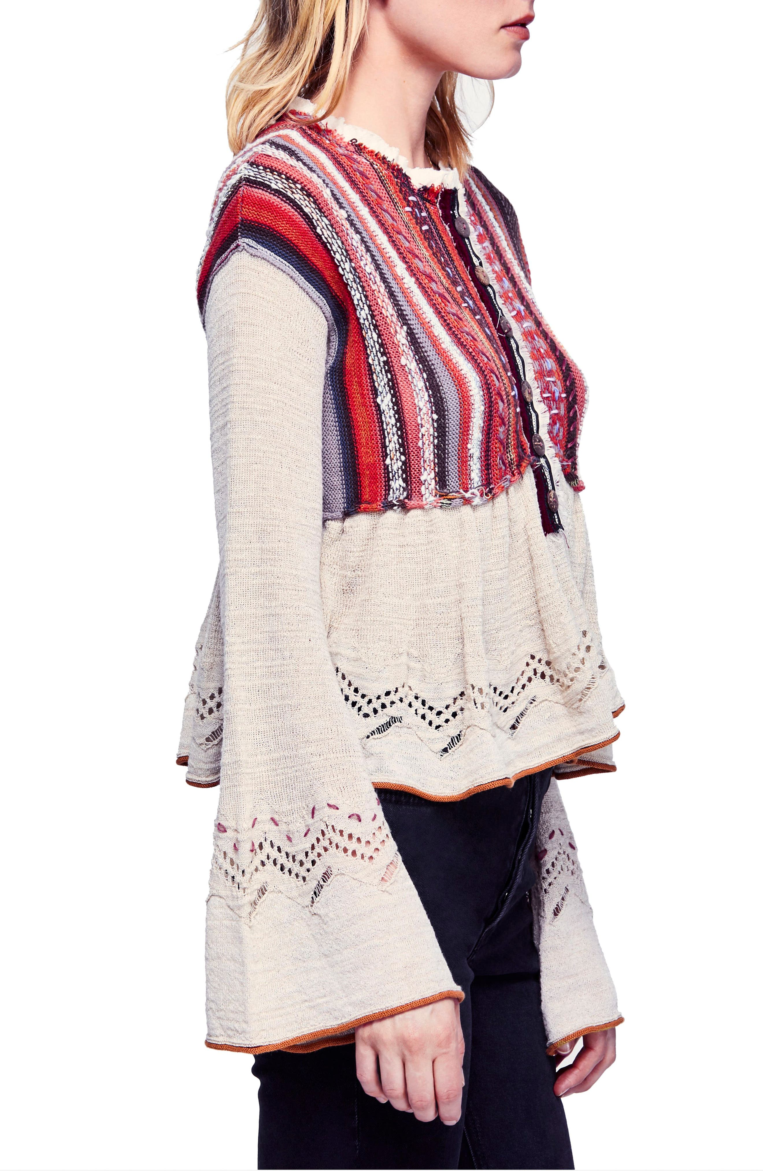 FREE PEOPLE,                             Meadow Lakes Sweater,                             Alternate thumbnail 3, color,                             903