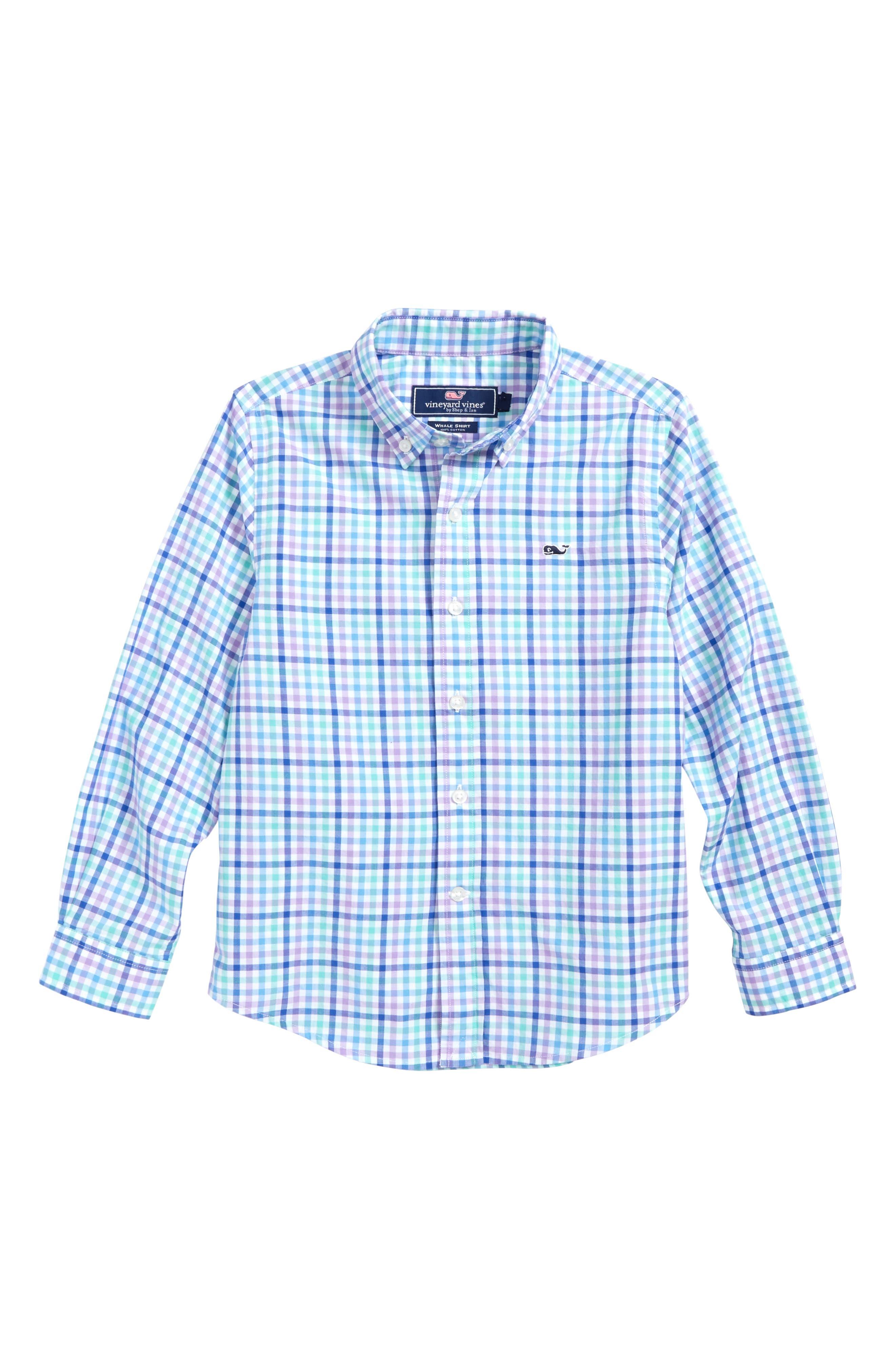 Gaspar Gingham Whale Shirt,                         Main,                         color, 359
