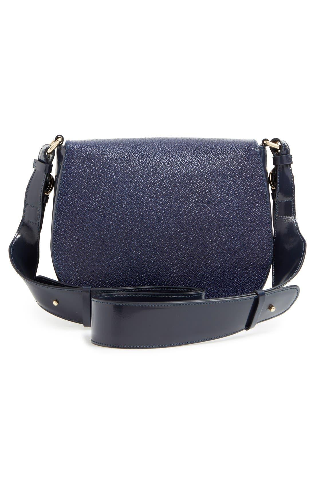 'Small Ellen' Leather Shoulder Bag,                             Alternate thumbnail 2, color,                             400