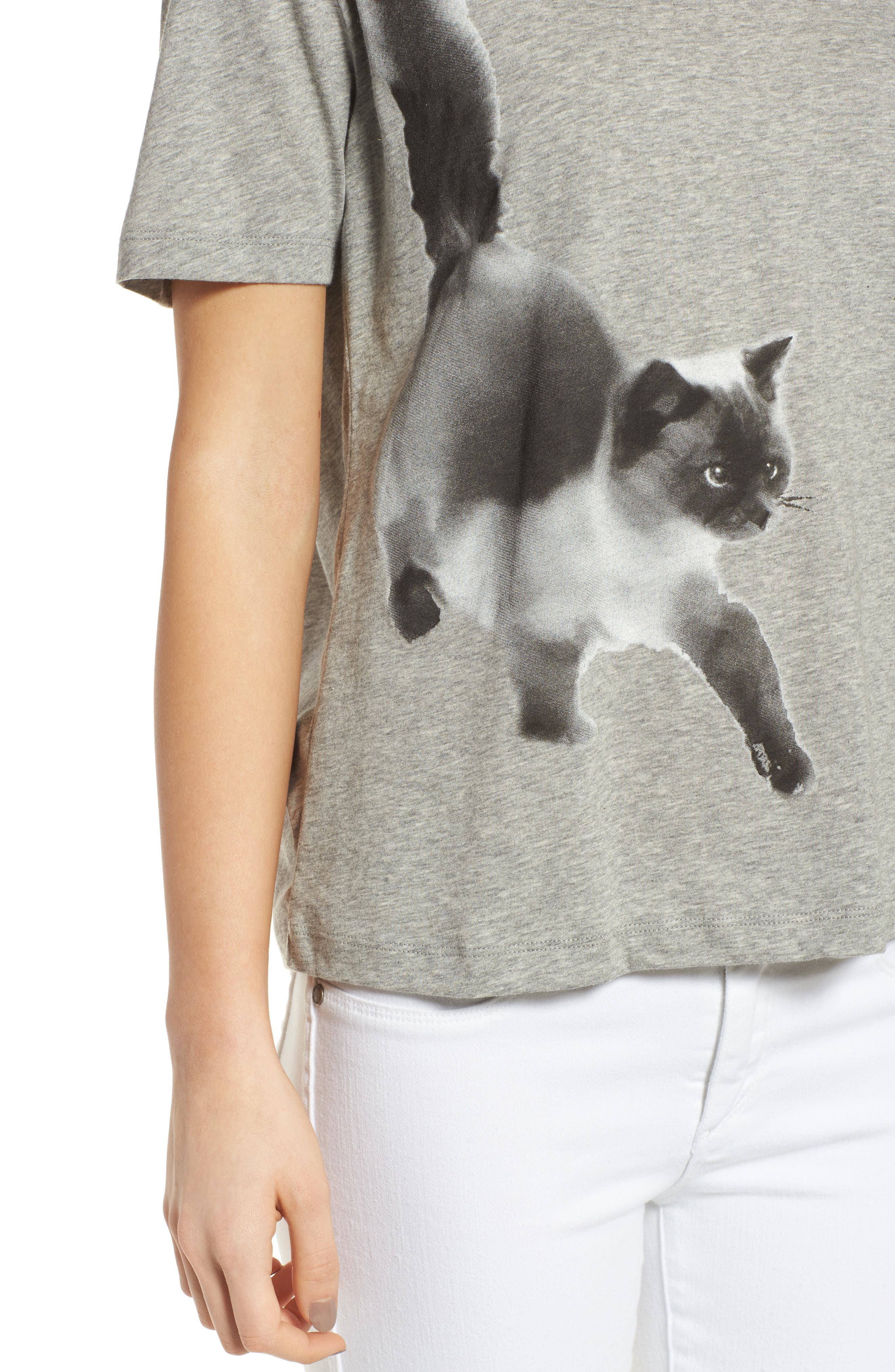 Cat Print Graphic Tee,                             Alternate thumbnail 7, color,