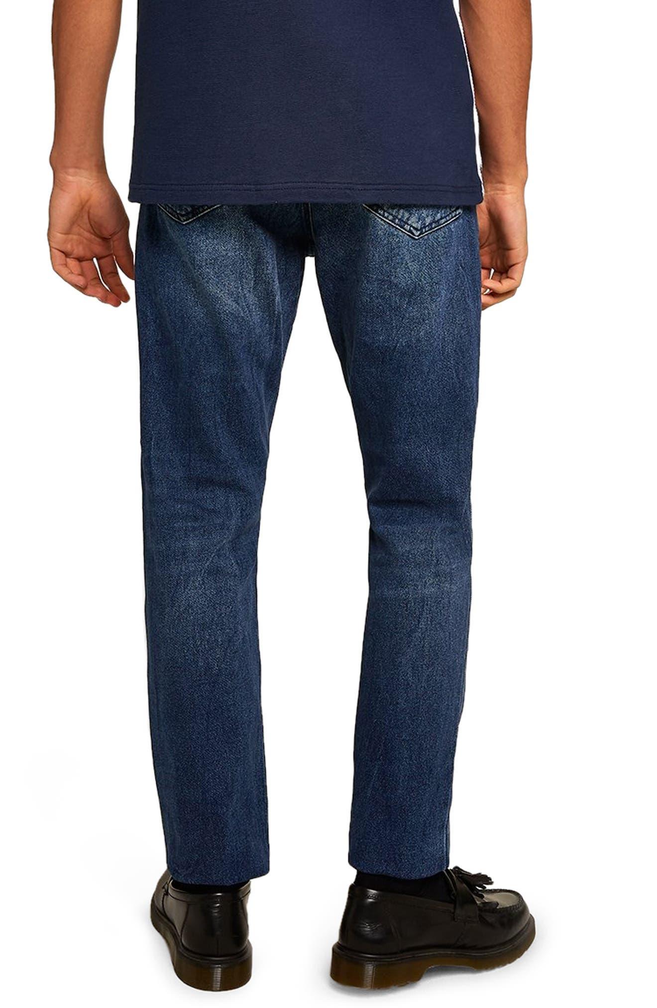 Cupid Rigid Taper Jeans,                             Alternate thumbnail 2, color,                             DARK BLUE